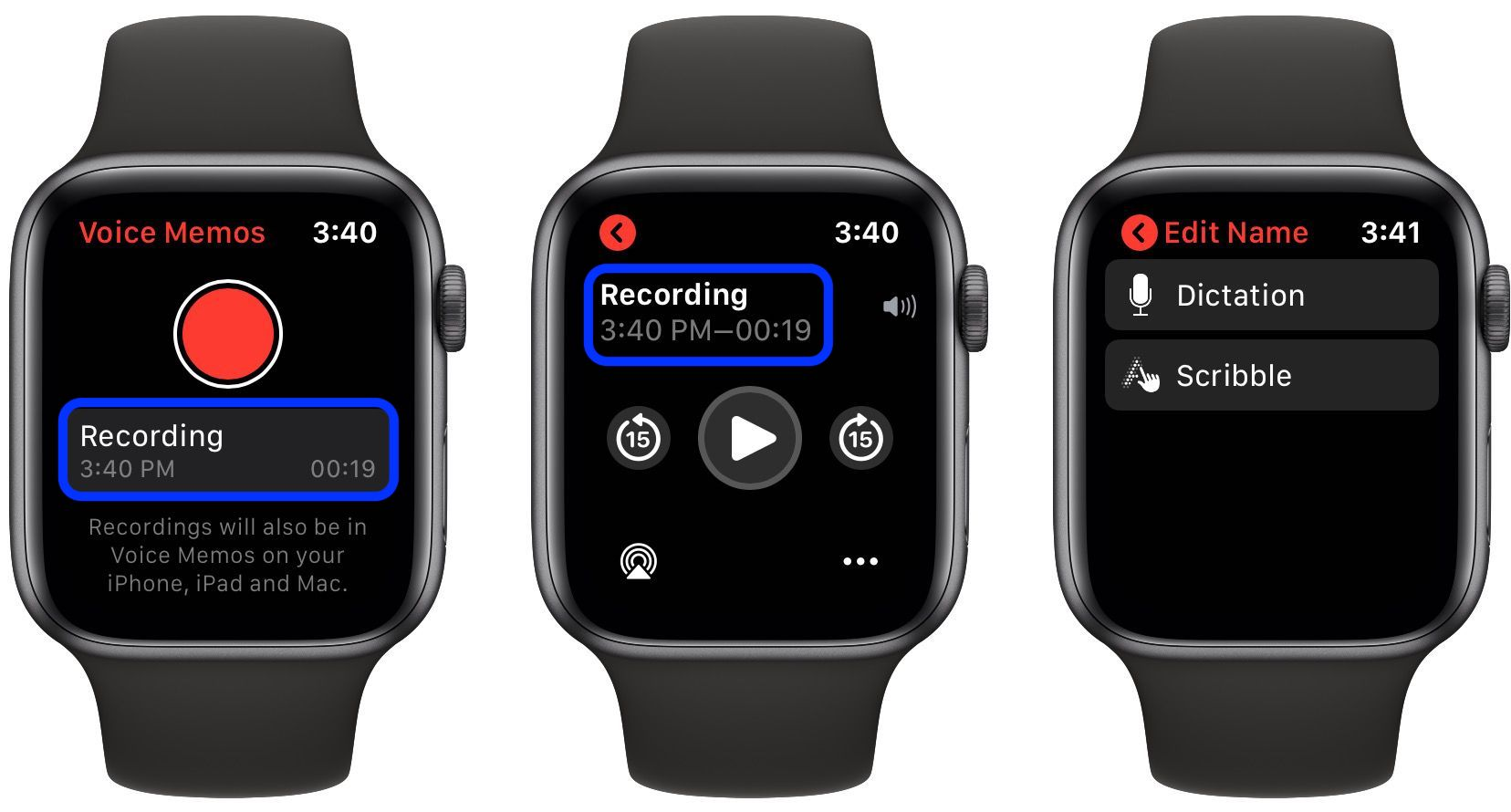 how to record Voice Memos Apple Watch walkthrough 2