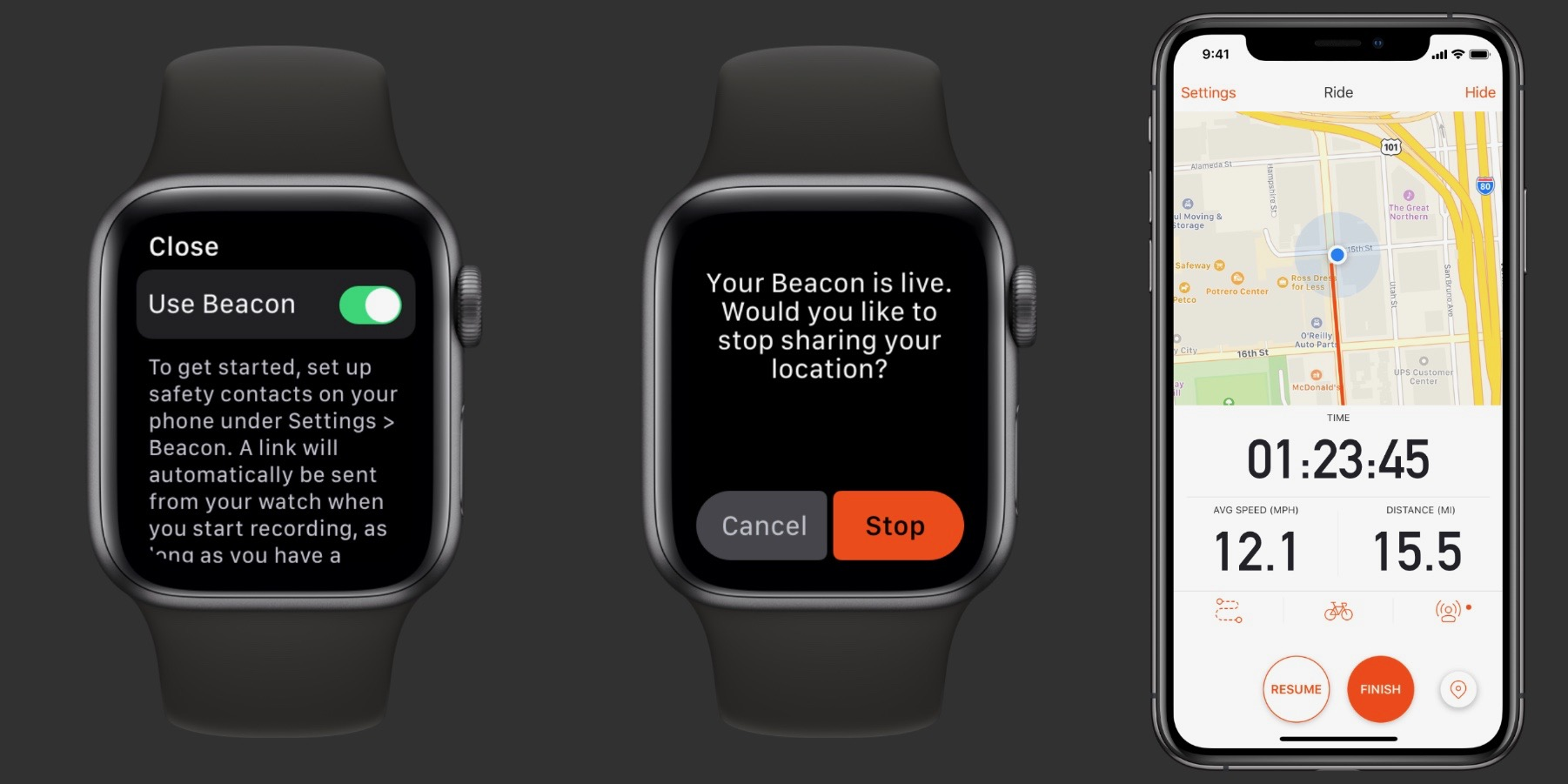 Strava's Location Sharing Feature 'Beacon' Now Works on Apple Watch Without iPhones