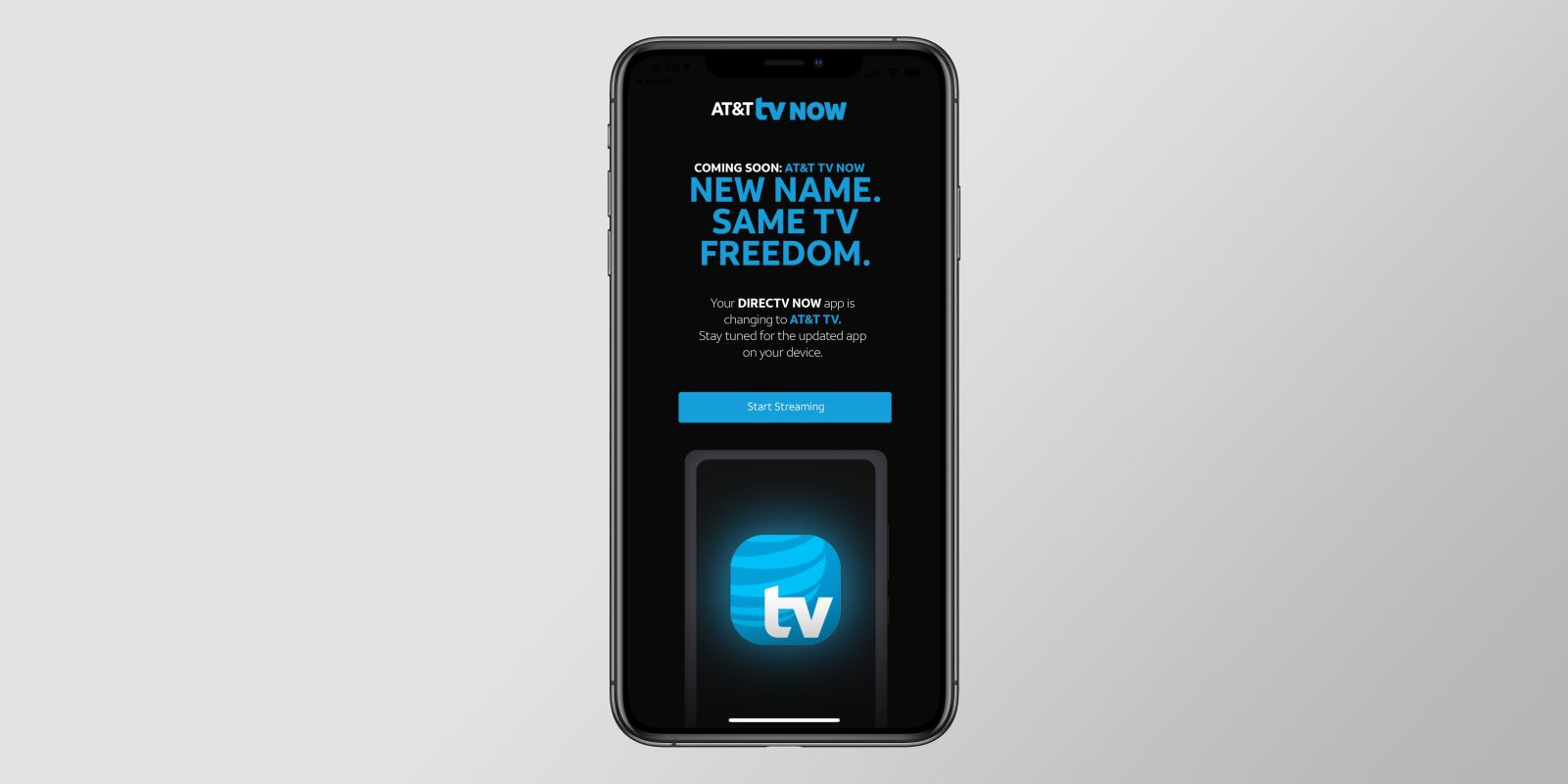 AT&T begins to roll out rebranded 'DirecTV Now' app under