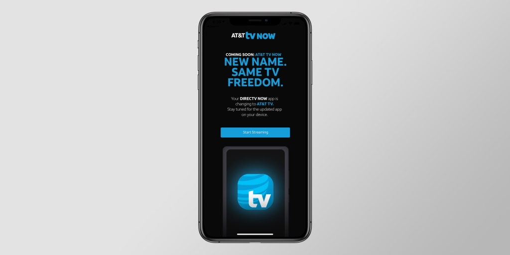 photo of AT&T begins to roll out rebranded 'DirecTV Now' app under 'AT&T TV Now' name image