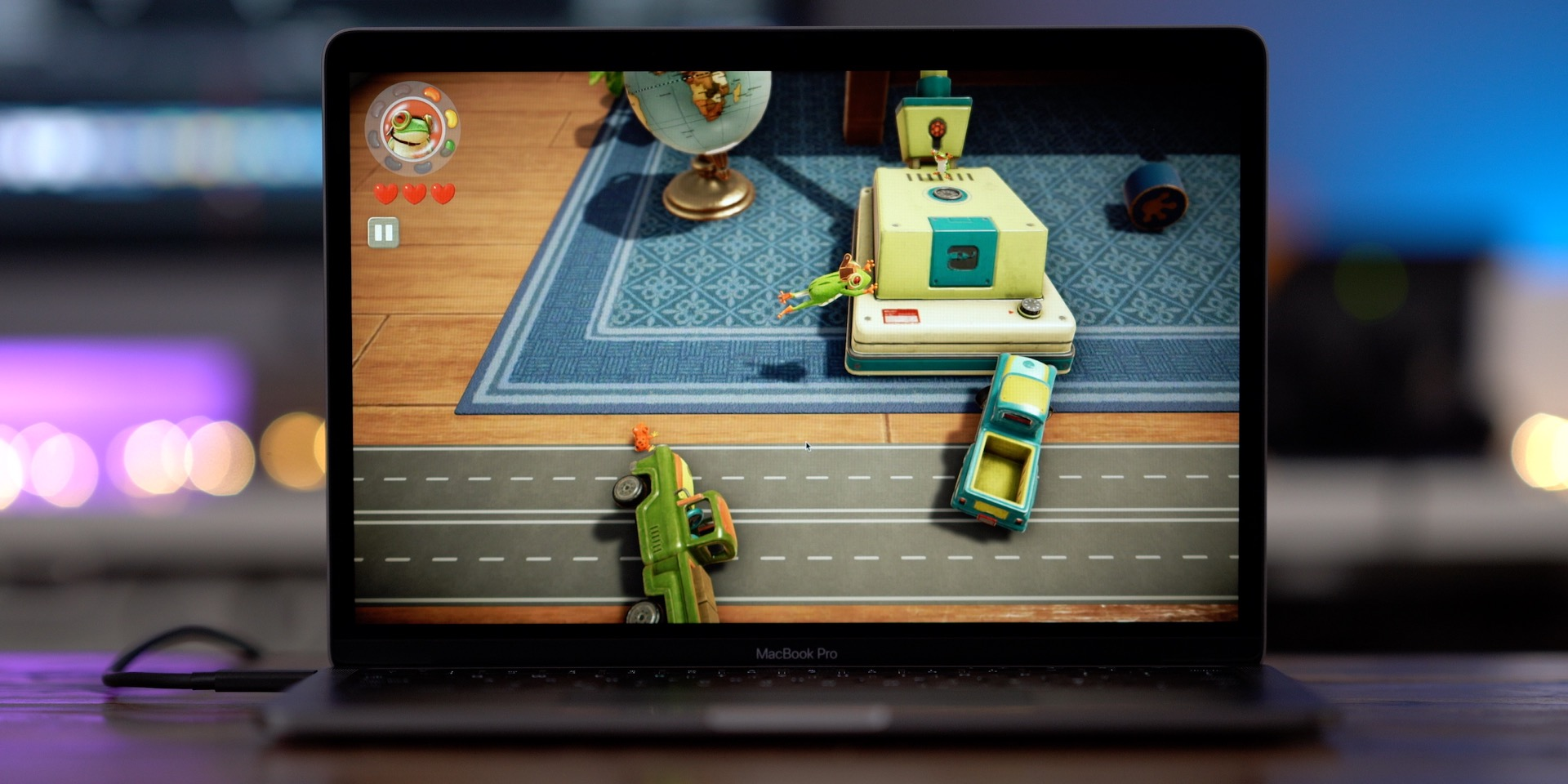 Frogger in Toy Town Apple Arcade early access preview