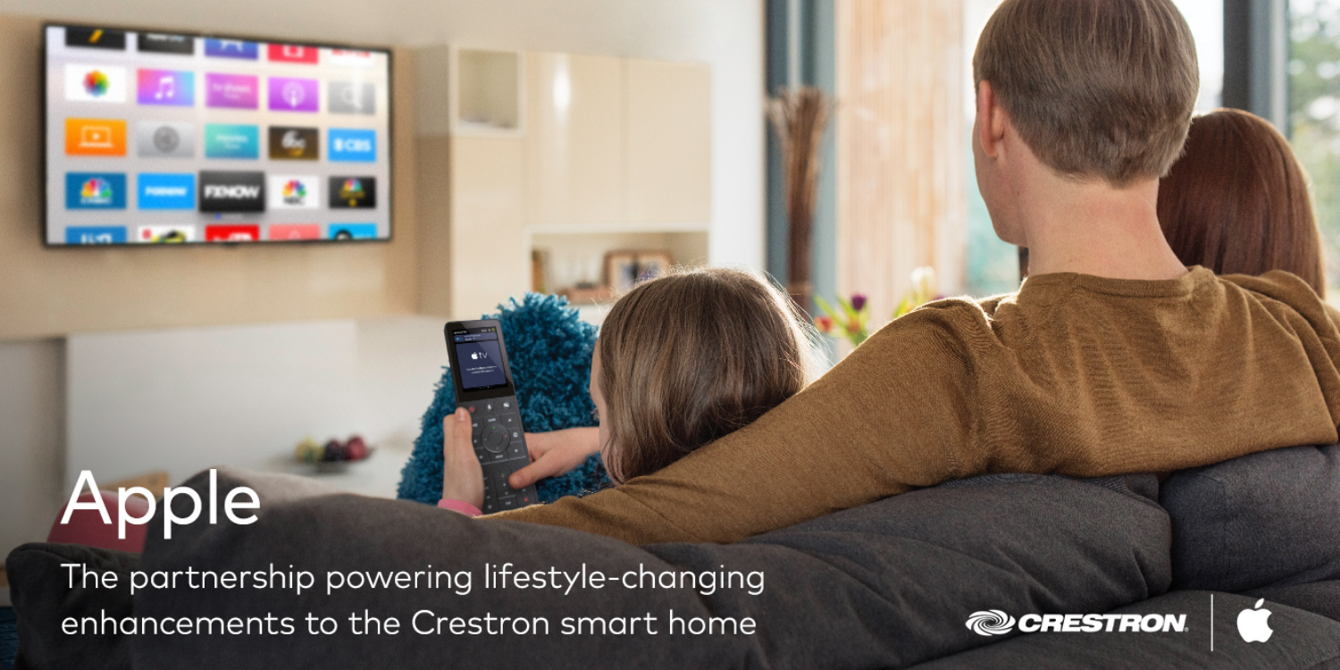 Apple TV, Siri, and HomeKit integration lands on Crestron's programmable touch screen remote