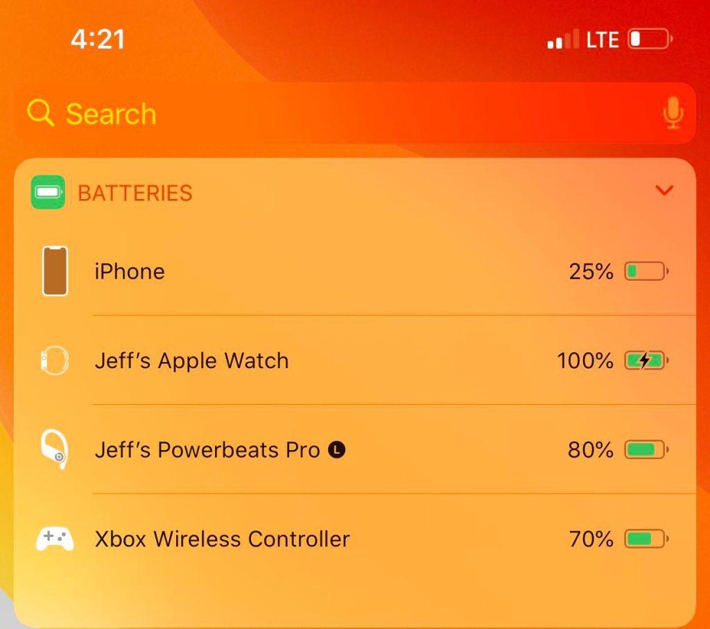 battery widgets
