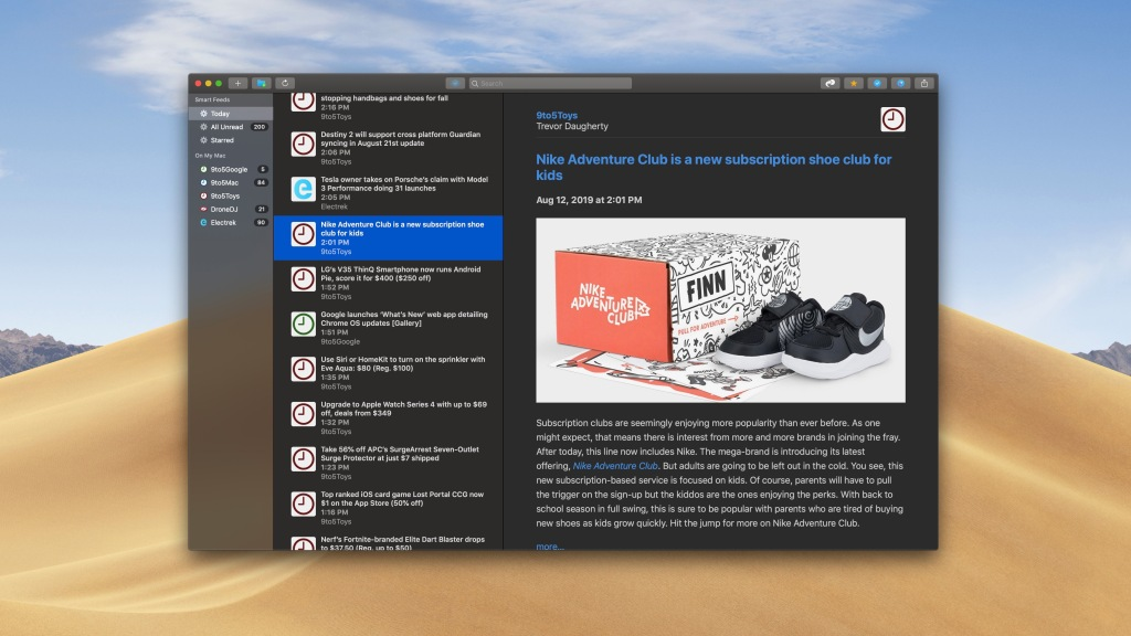 photo of NetNewsWire 5.0 RSS reader launches in public beta with Dark Mode, Safari extension, more image