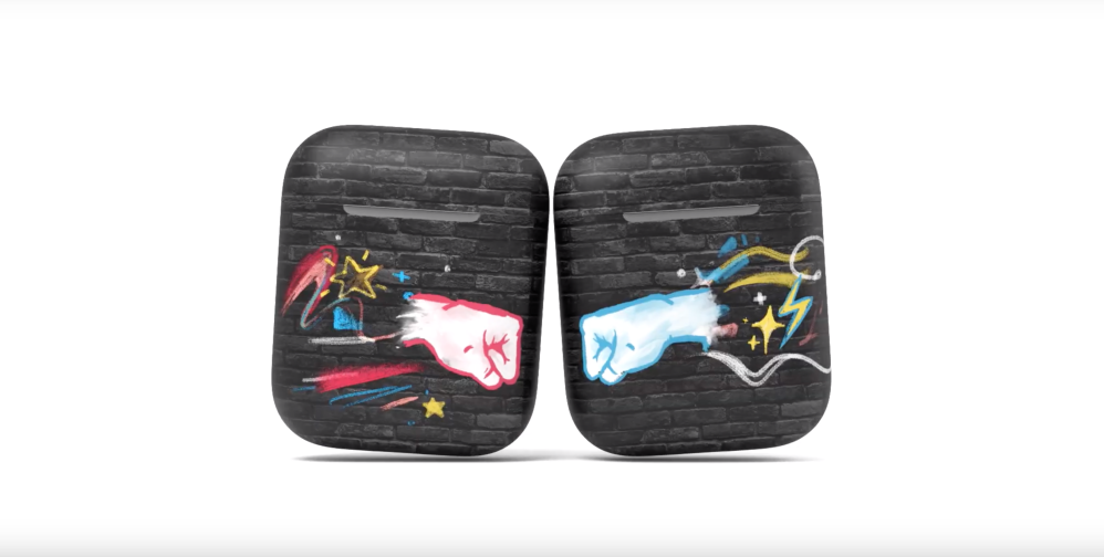 AirPods ad colorful creative cases