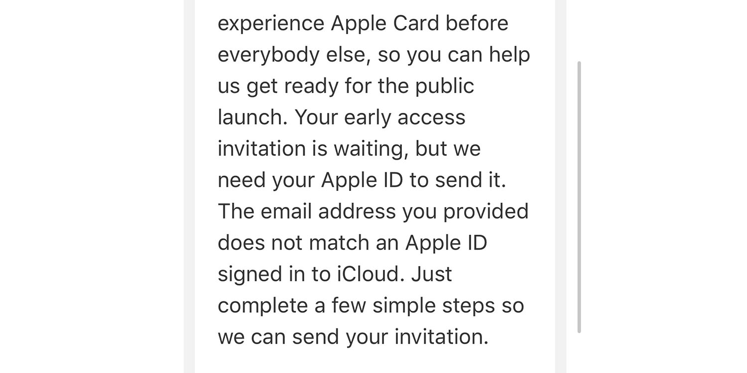 PSA: Asking for your Apple ID for Apple Card invite is a glitch, not phishing
