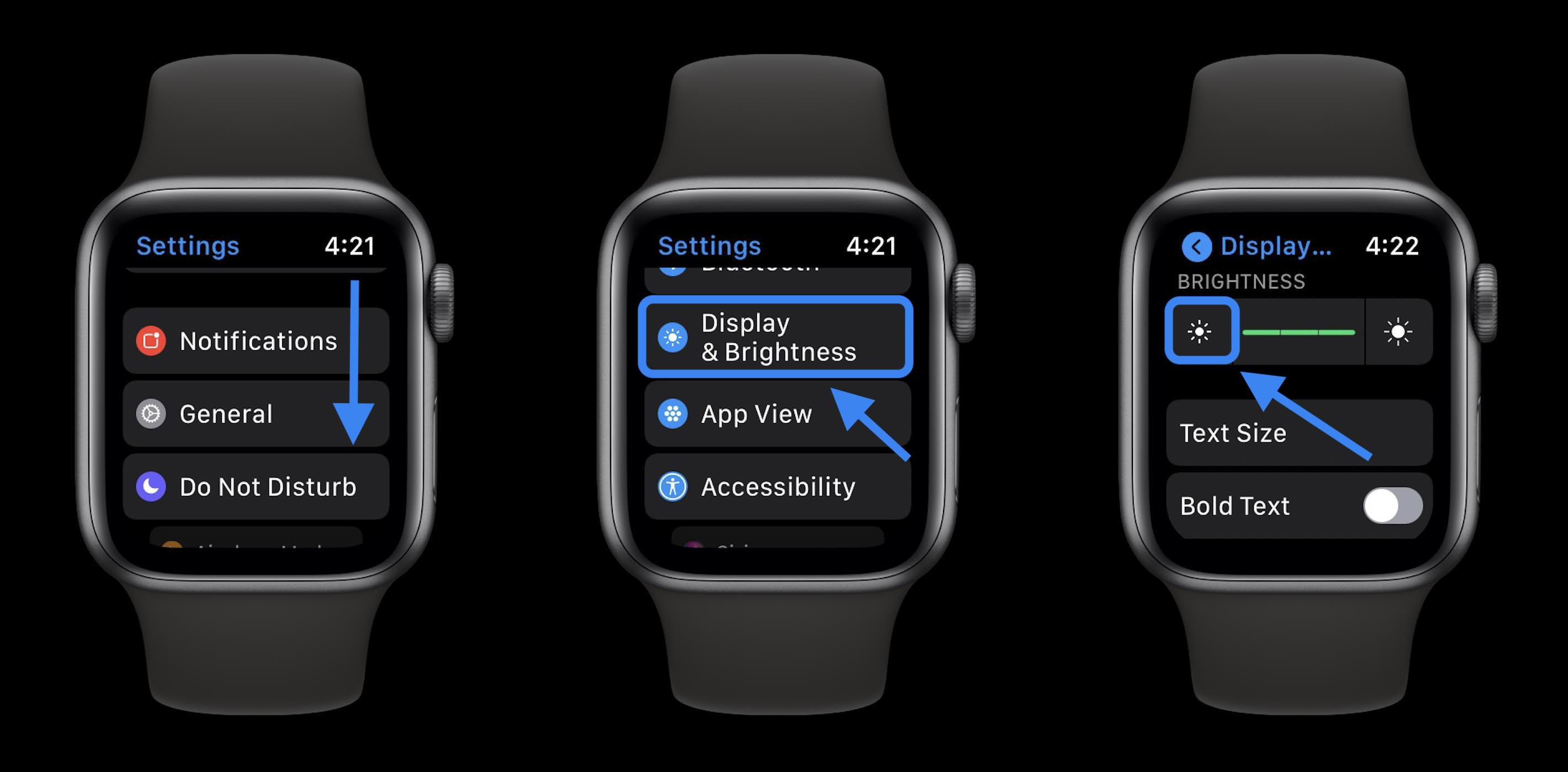 How to extend Apple Watch battery - turn down display brightness