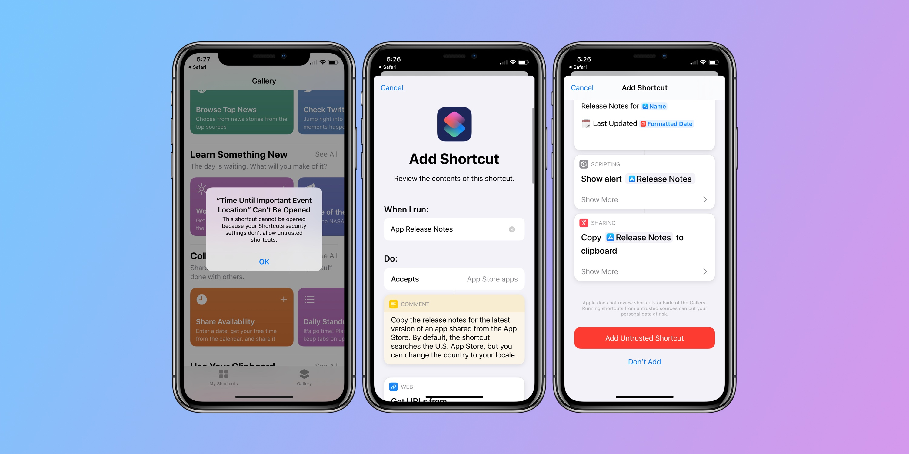 Ios 13 How To Allow Untrusted Shortcuts In Your Library 9to5mac