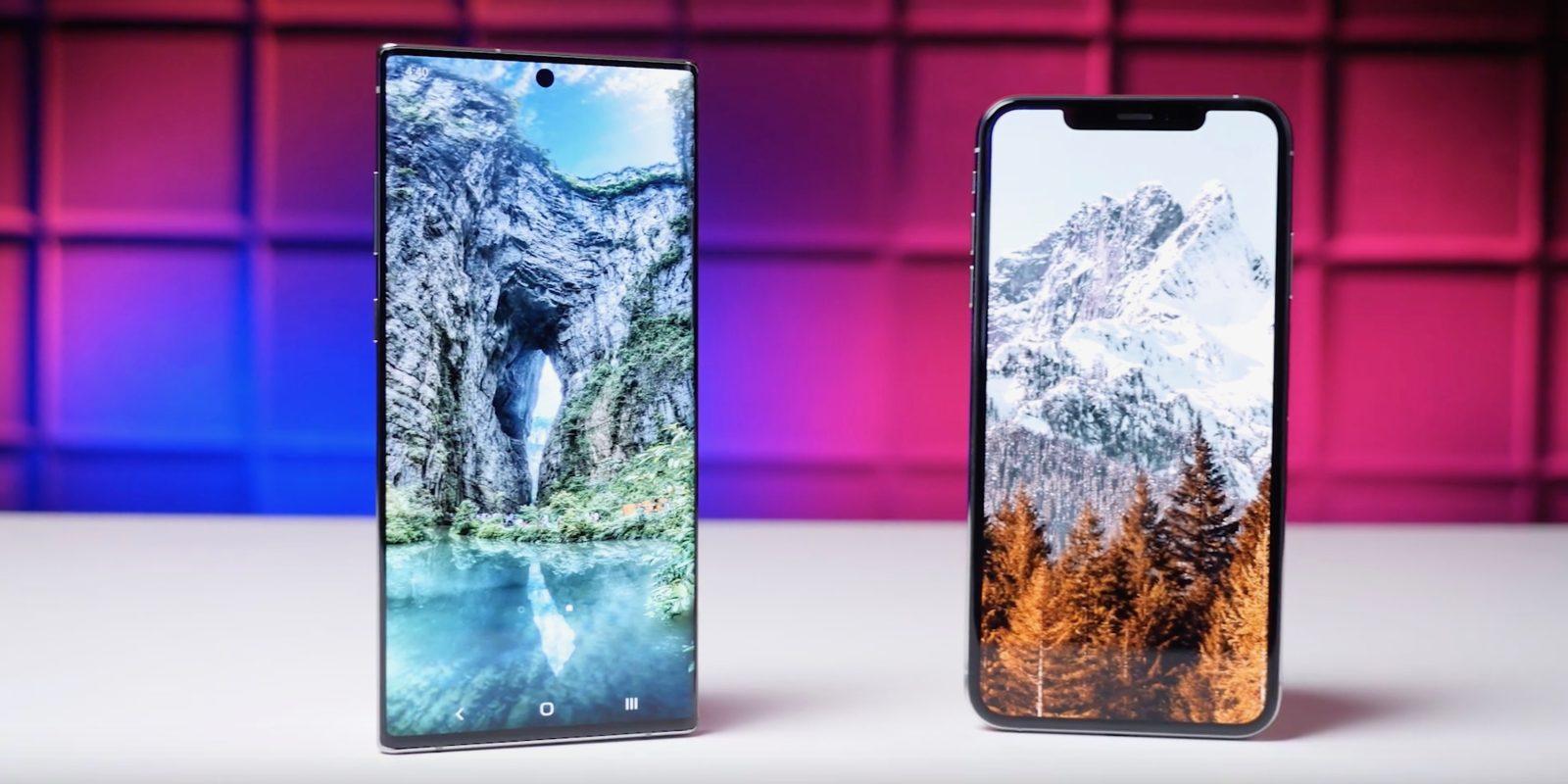 iPhone XS Max ranks behind Samsung Galaxy Note 10+ ahead of