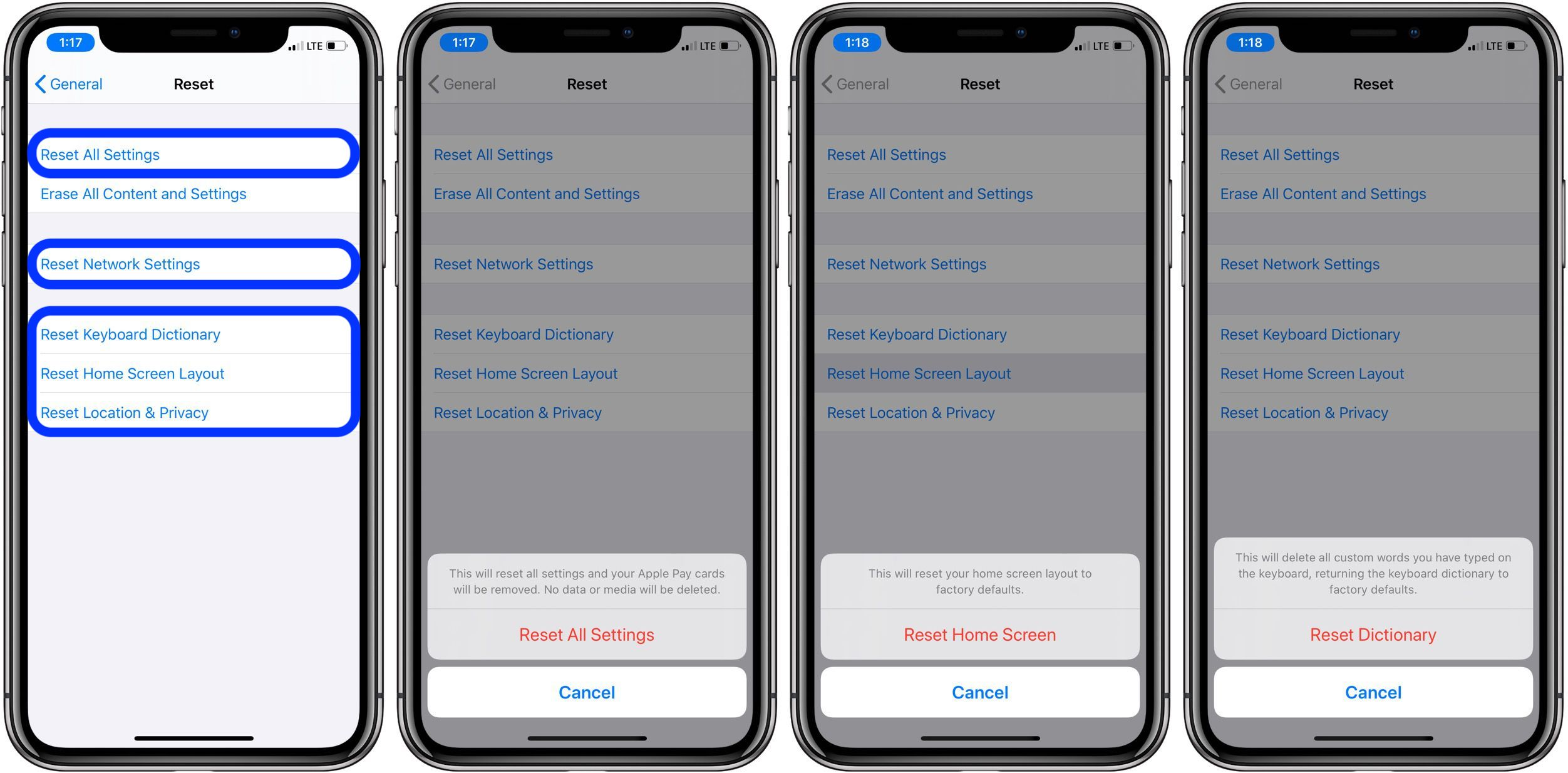 restore iPhone default settings walkthrough 2