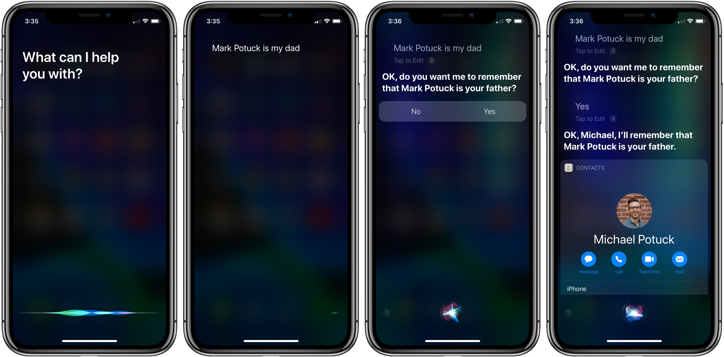 make Siri smarter with family relationships