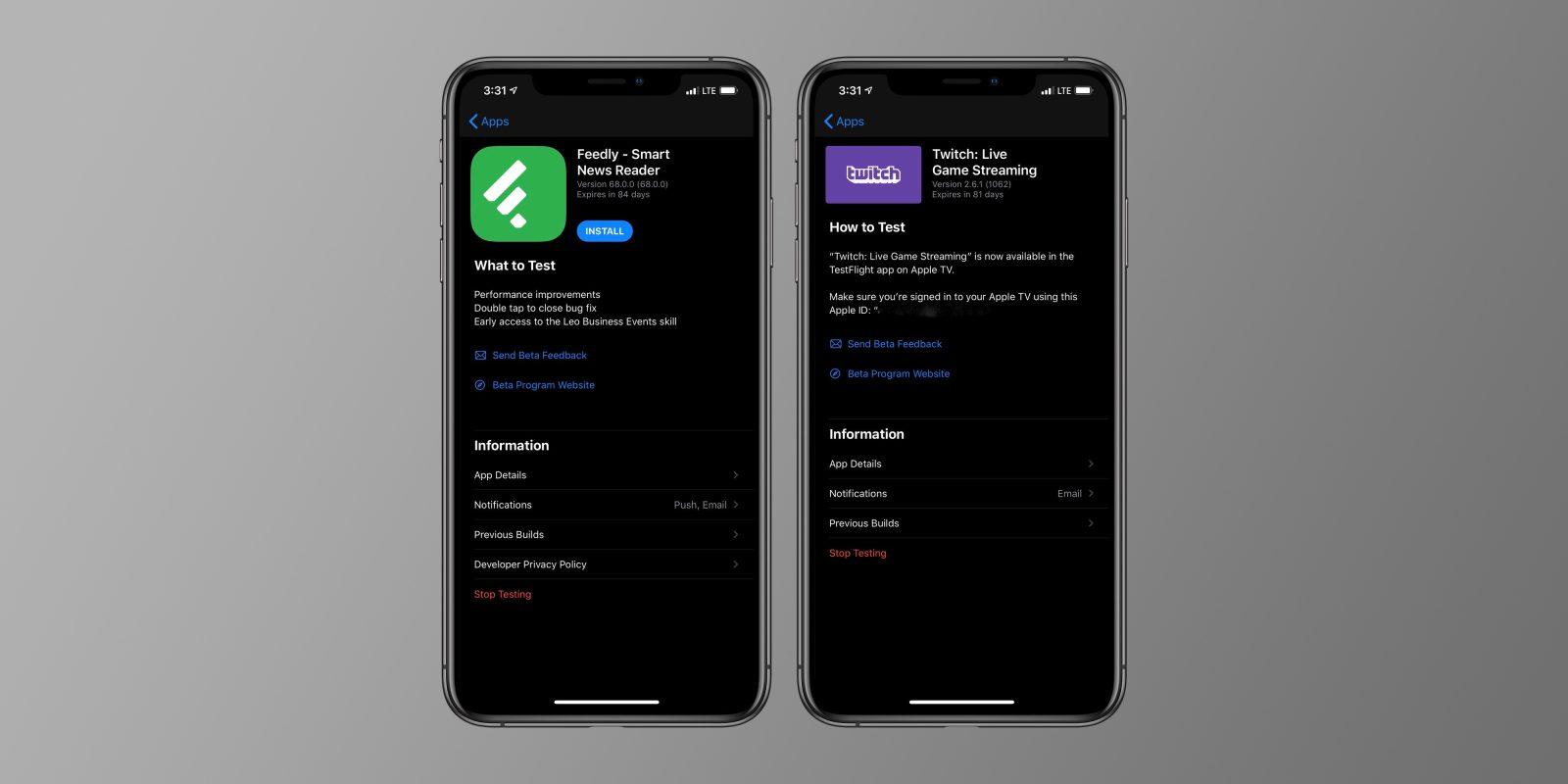 Apple's TestFlight beta testing app adds support for Dark Mode in iOS 13