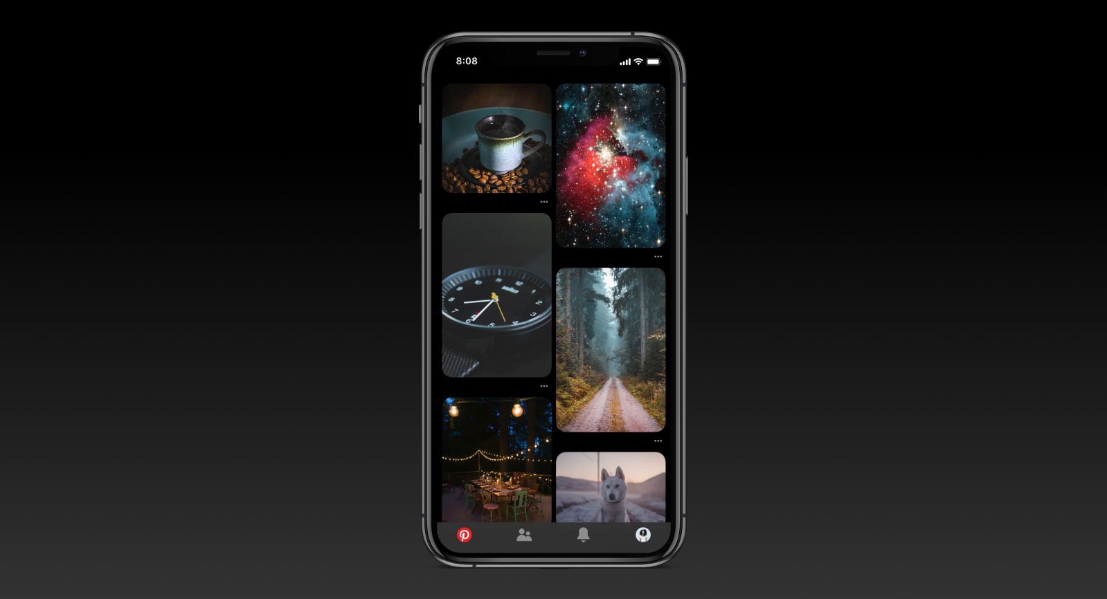 Pinterest updated for iOS 13 with support for Dark Mode