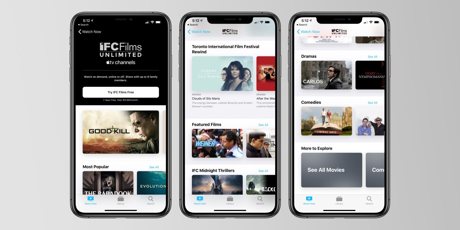 IFC Films Unlimited now available through Apple TV Channels for $6 per month