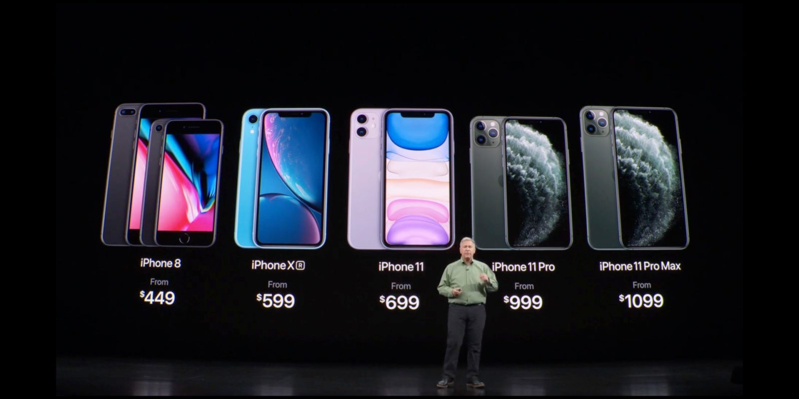 iPhone XR drops to $599, iPhone 8 to $449, following iPhone
