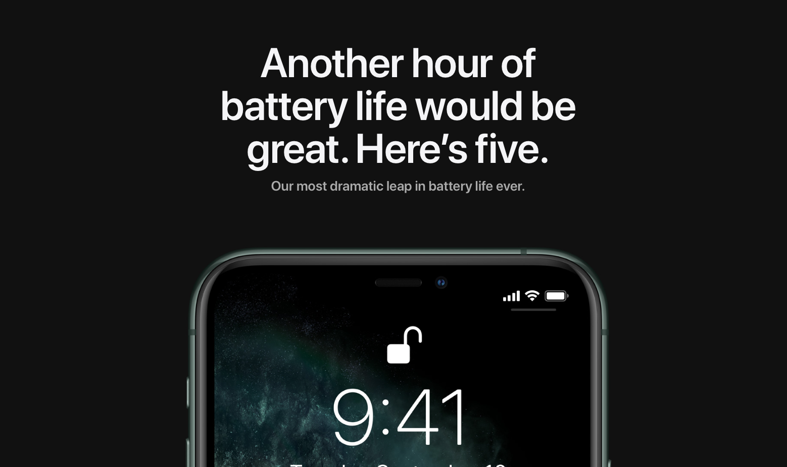photo of iPhone 11 and iPhone 11 Pro improves on iPhone XR stellar battery life image