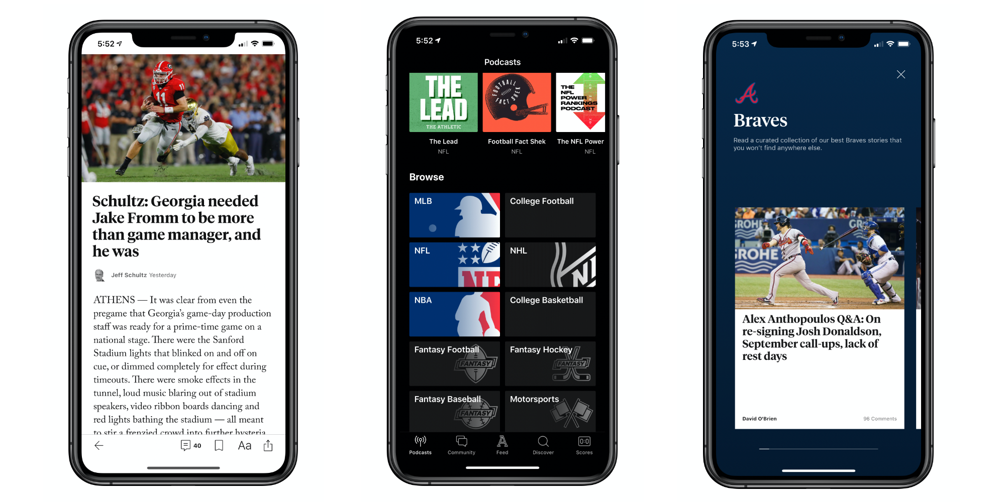 The Athletic iPhone App