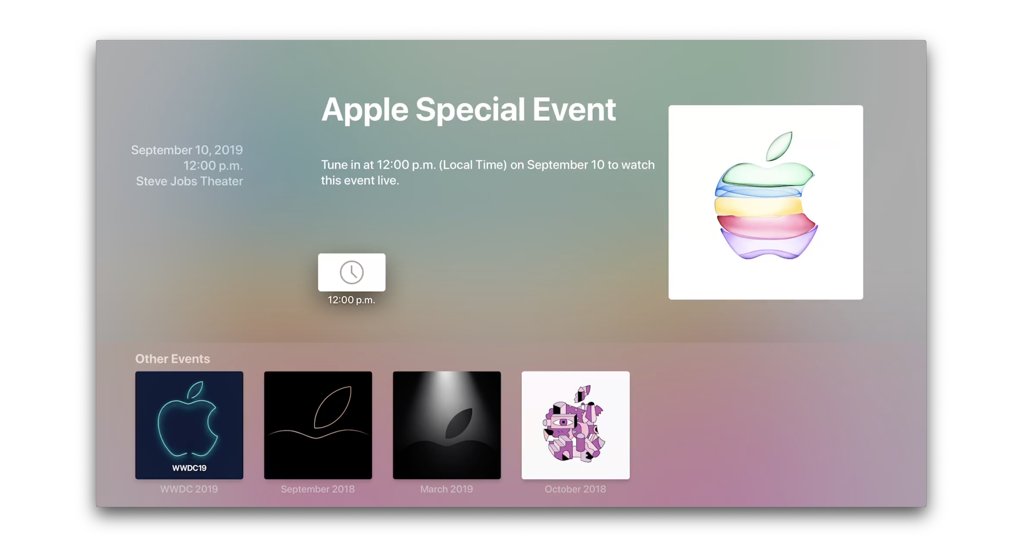 Apple Events App For Tvos Updated For Iphone 11 Event Stream 9to5mac