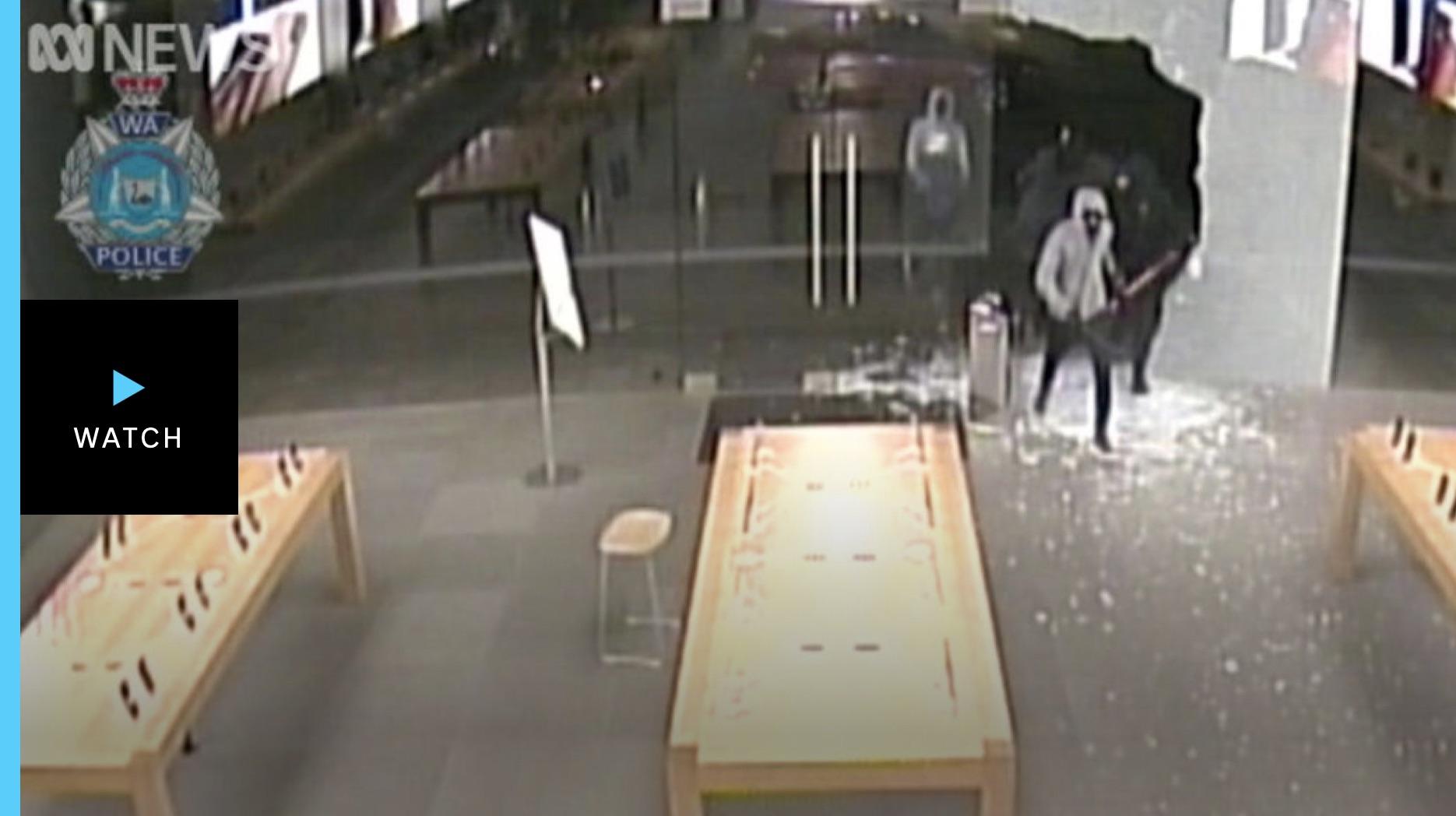 Apple Store thieves steal $300K sledgehammer