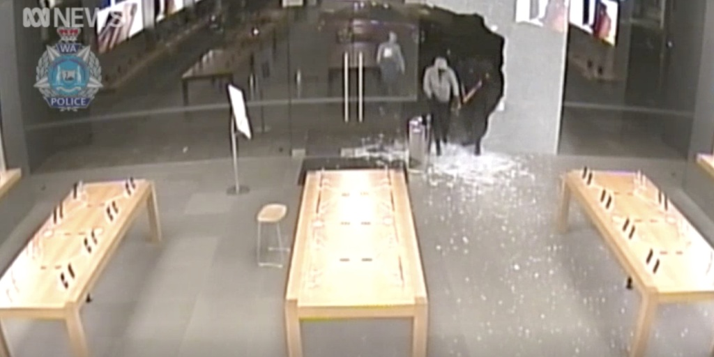 Thieves steal $300K of iPhones after using sledgehammer to break into Australian Apple Stores