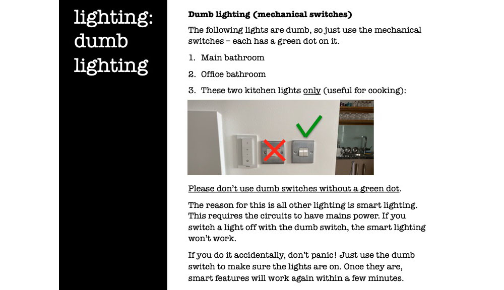 Dumb lighting