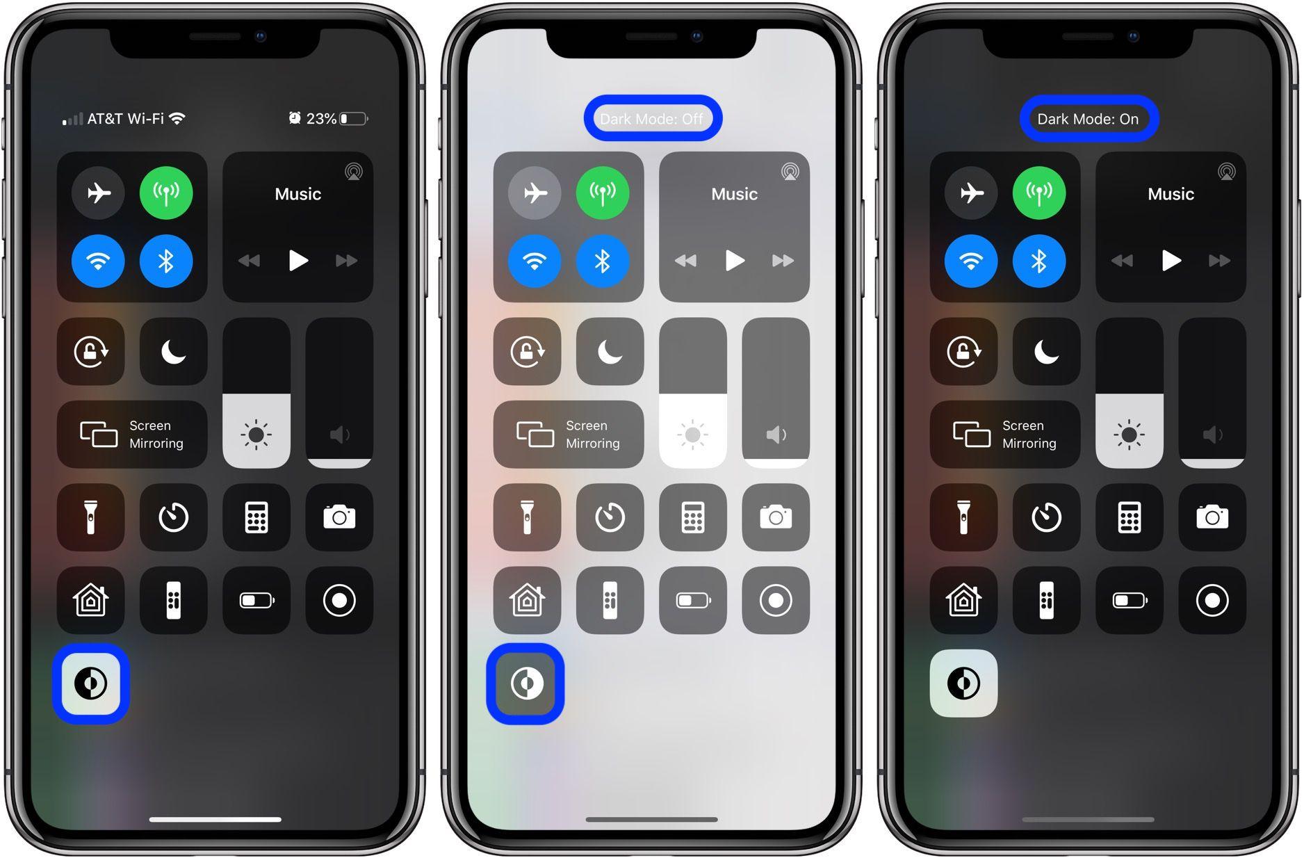 iOS 13 How to add Dark Mode Control Center shortcut iPhone walkthrough 2
