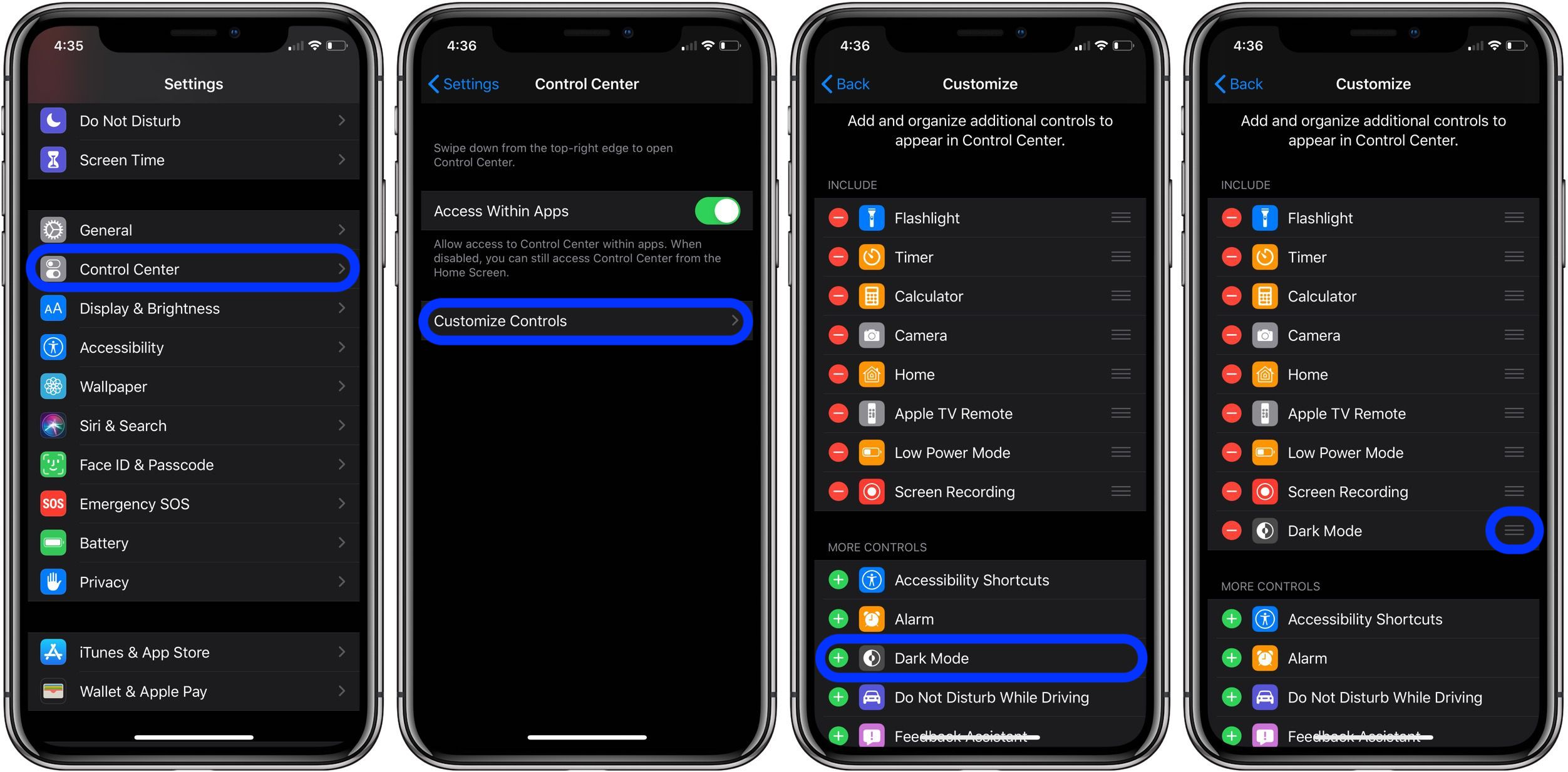 How to add Dark Mode shortcut on iPhone in iOS 13 - 9to5Mac