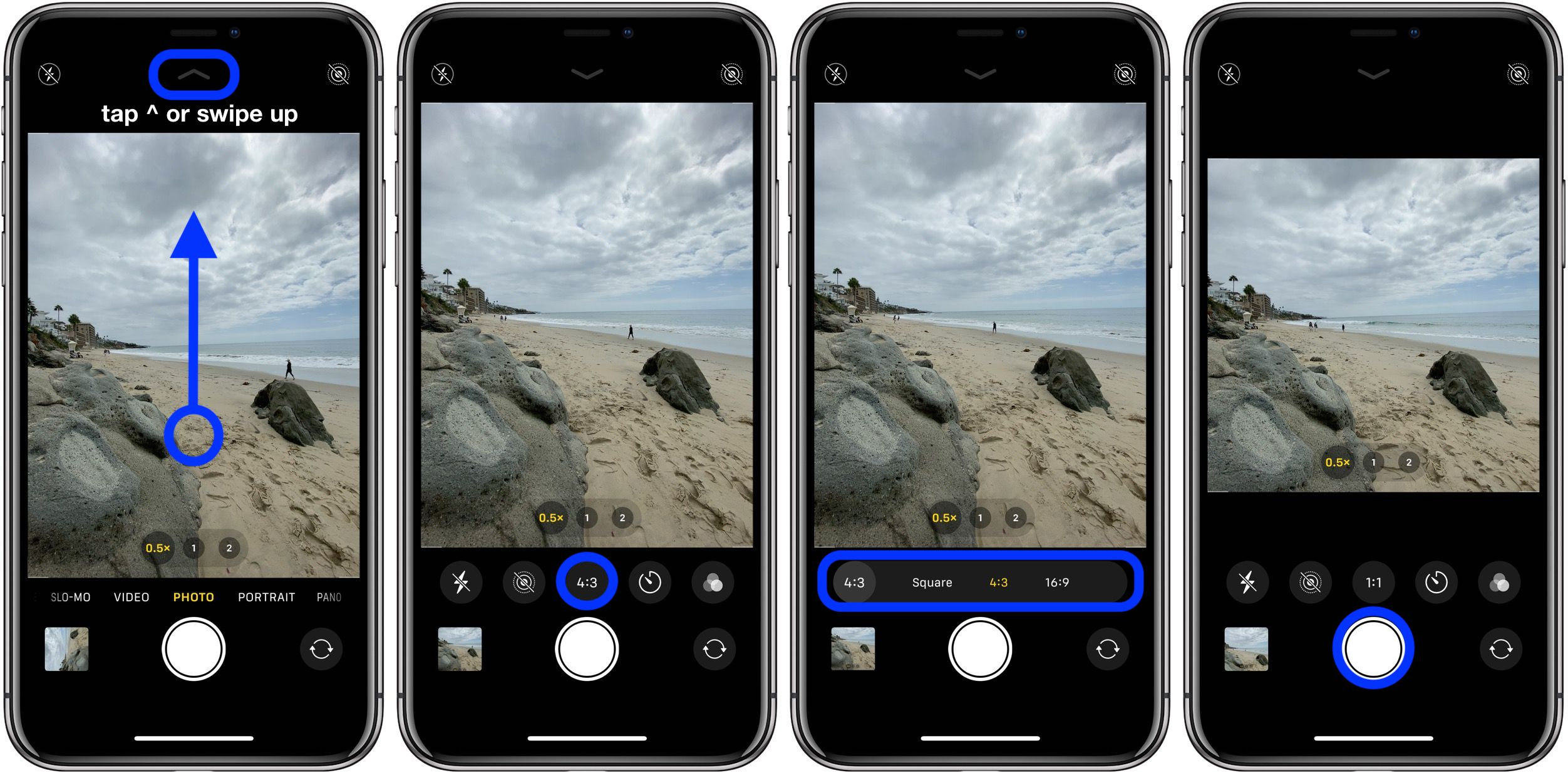 how to take square photos iPhone 11 iPhone 11 Pro