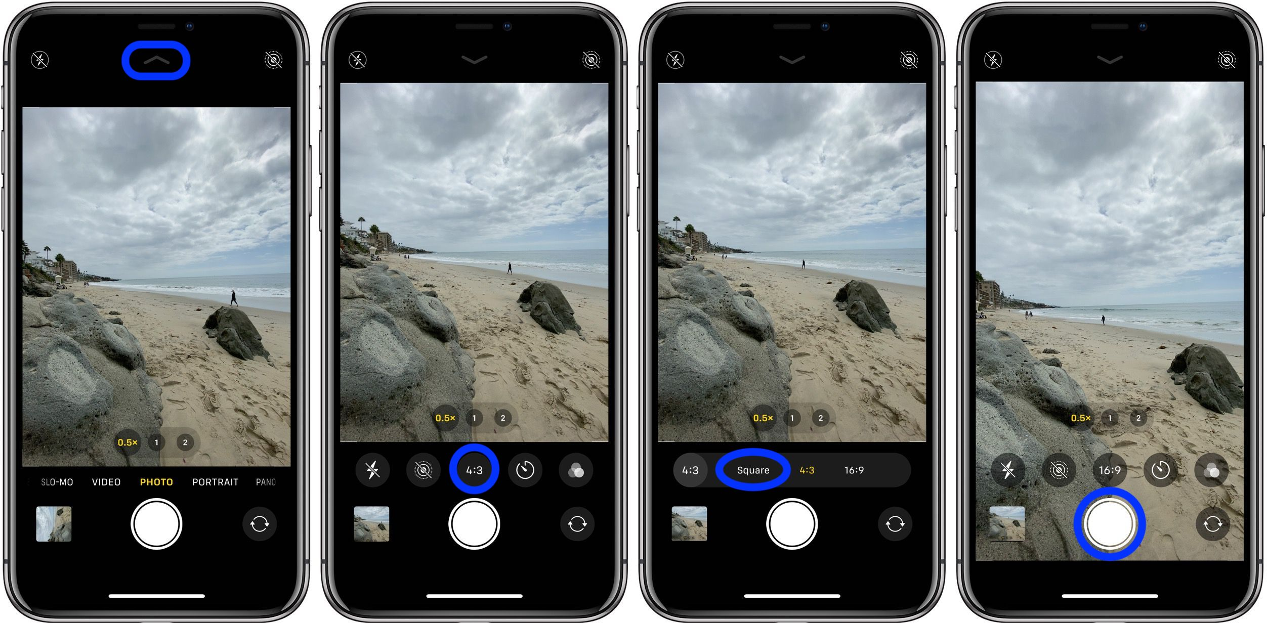 How to take square photos iPhone 11 walkthrough 2