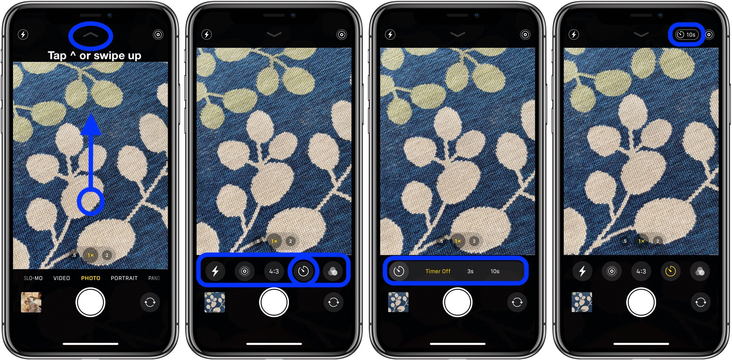 How to take time photos iPhone 11 Pro Camera app