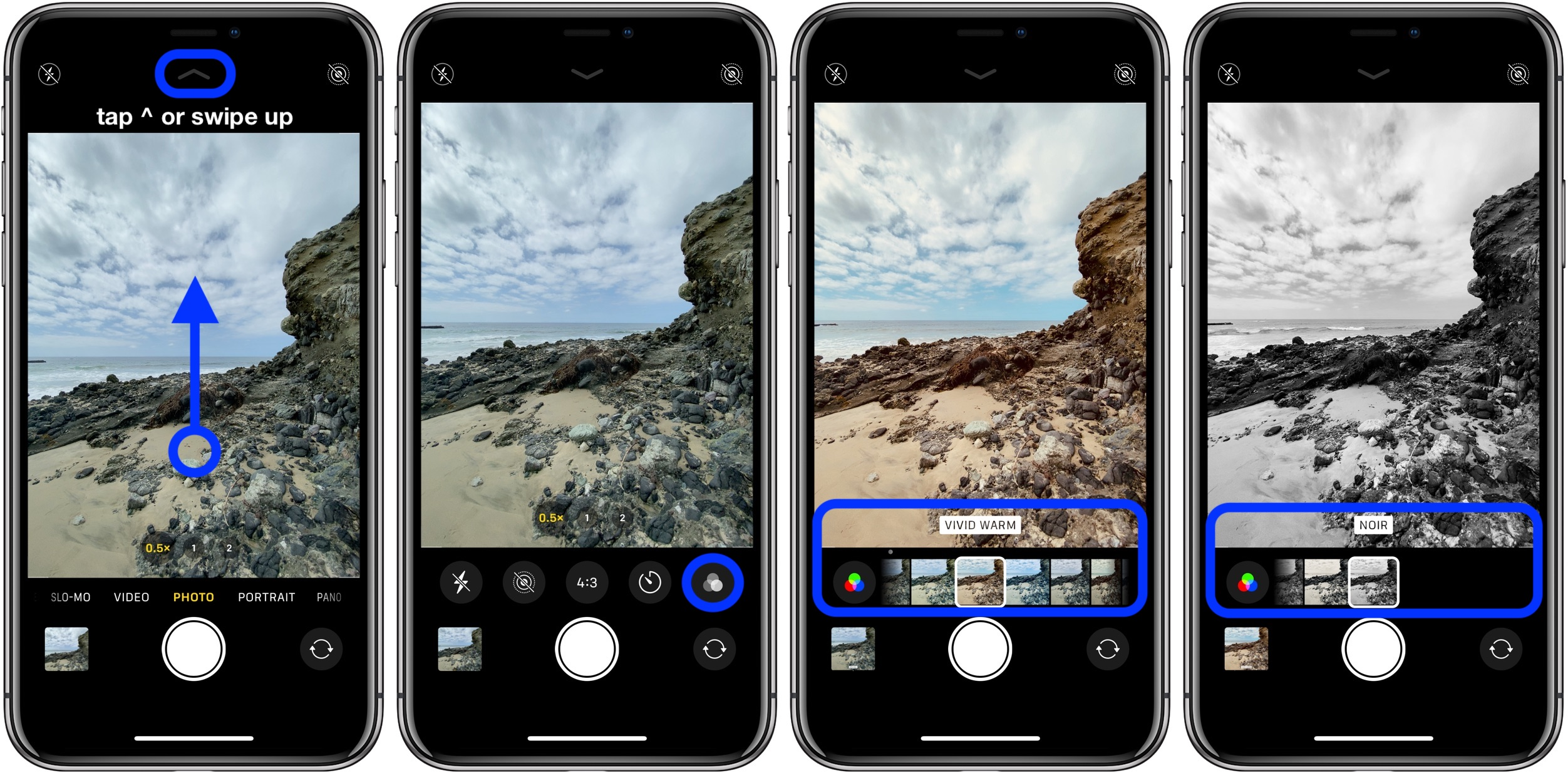 How to use camera filters iPhone 11 Pro walkthrough