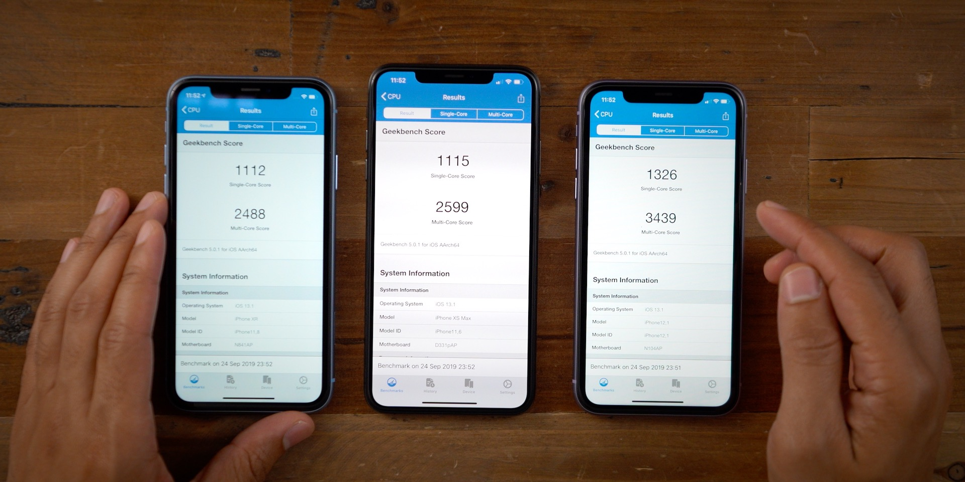iPhone 11, XR, XS Max Geekbench 5 Benchmark