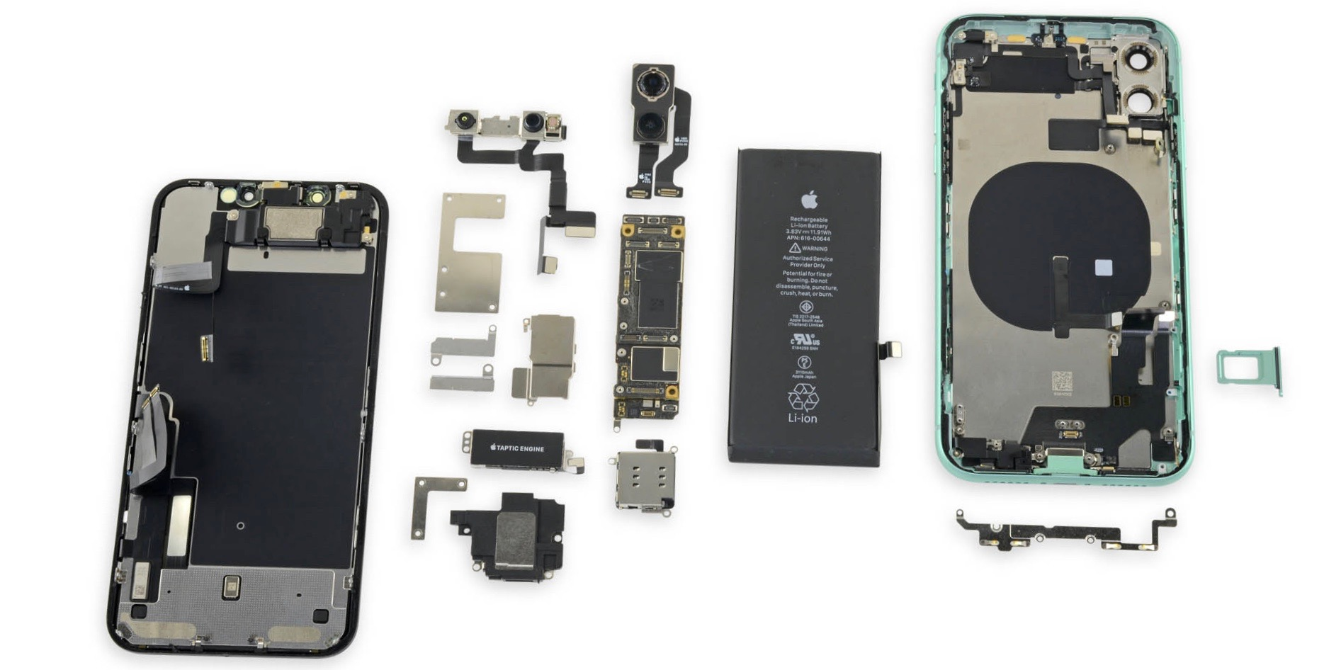 Iphone 11 Teardown Reveals Lack Of Bilateral Wireless Charging Evidence Same Logic Board As Pro Models More 9to5mac