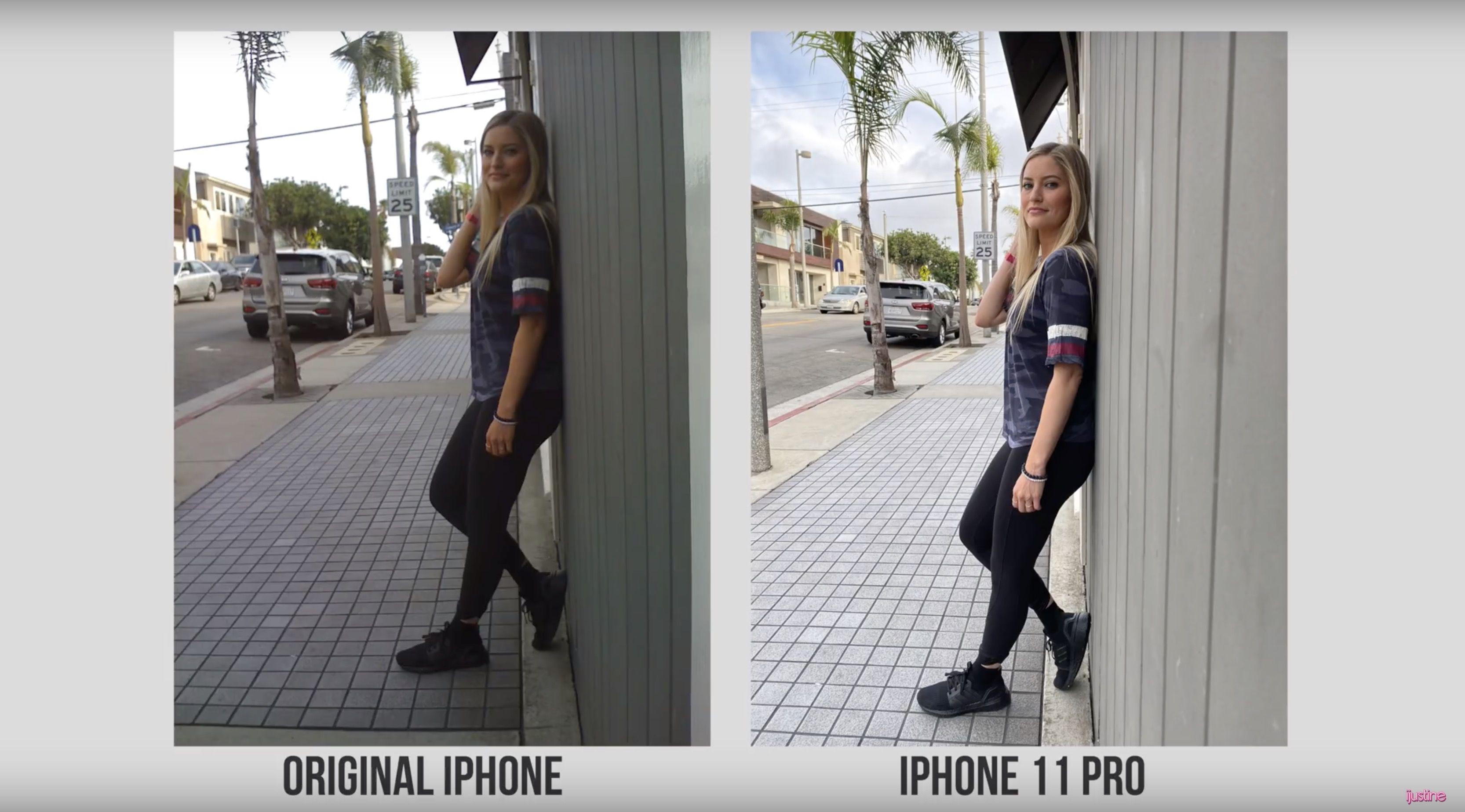 iPhone 11 Pro vs. original iPhone camera