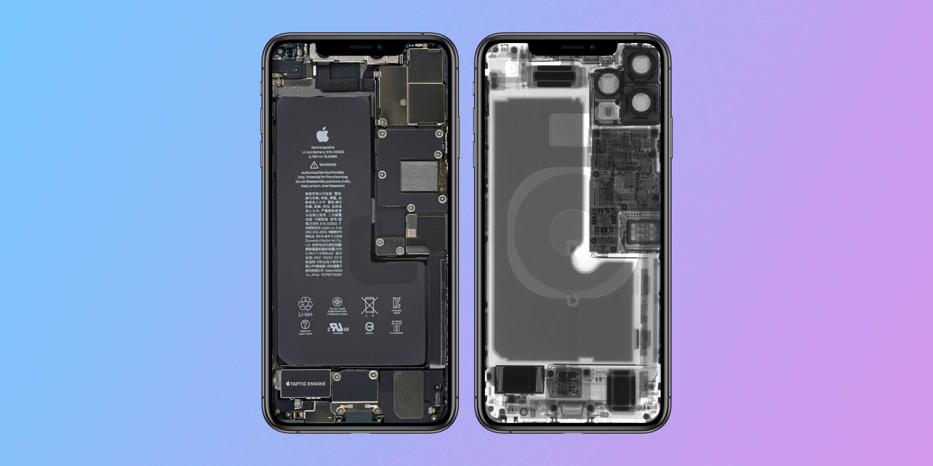 Ifixit Shares Fun Iphone 11 And 11 Pro Internal And X Ray Wallpapers 9to5mac