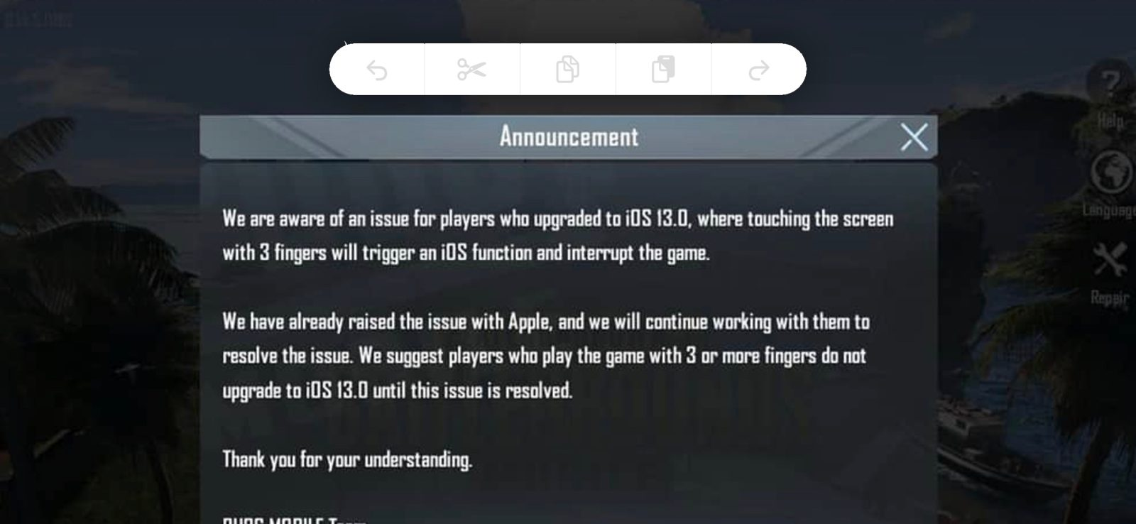 iPhone games including Fortnite and PUBG are unplayable on iOS 13 due to gesture bug, warning players not to update