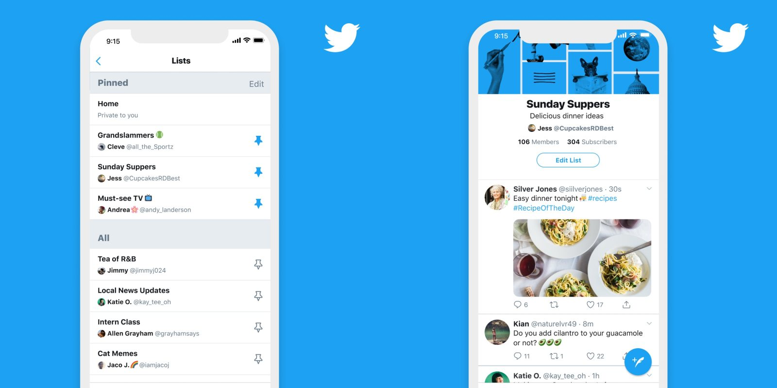 Twitter now lets all iPhone users pin favorited lists to the timeline