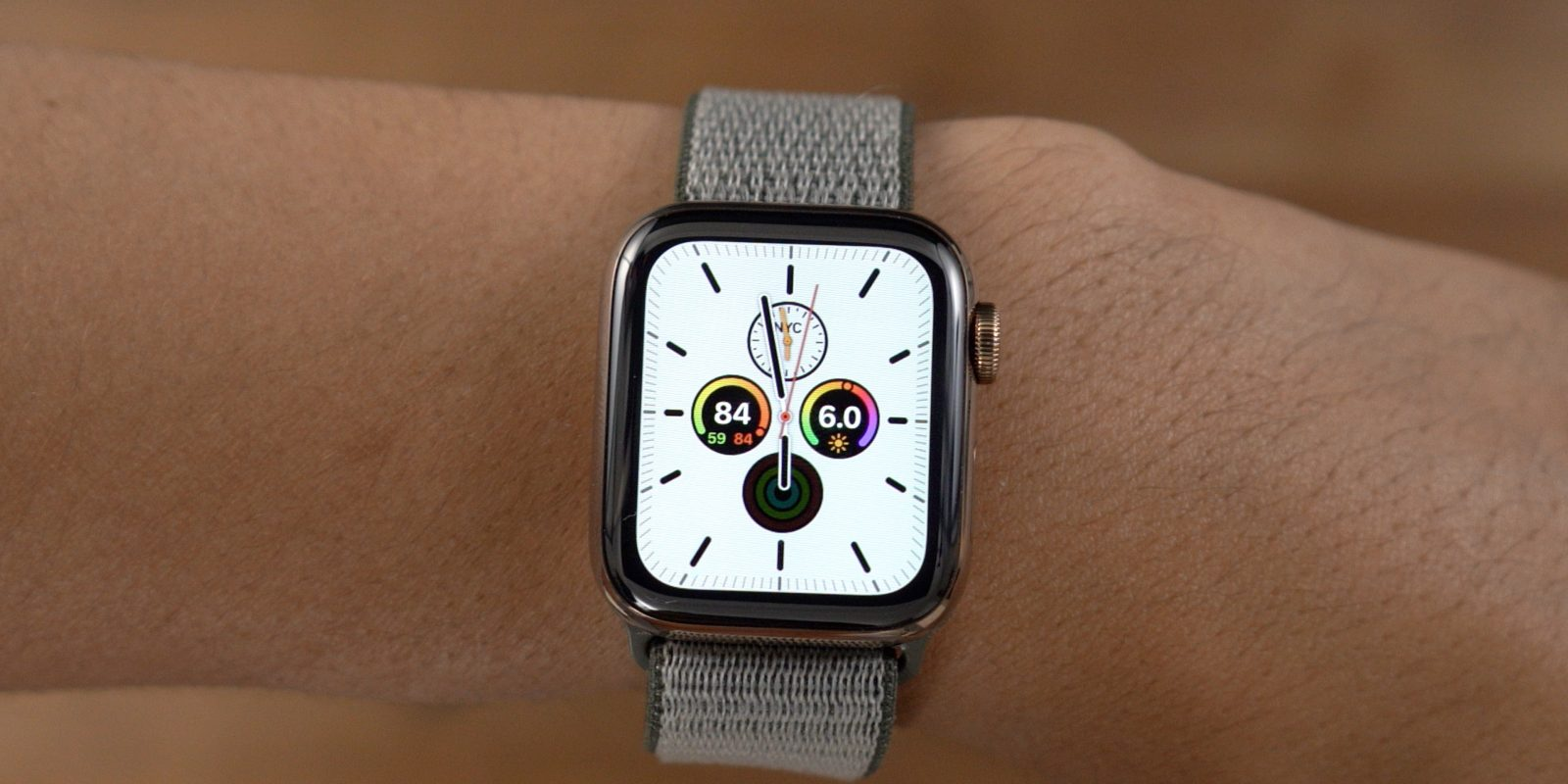 watchOS 6 Meridian Watch Face White