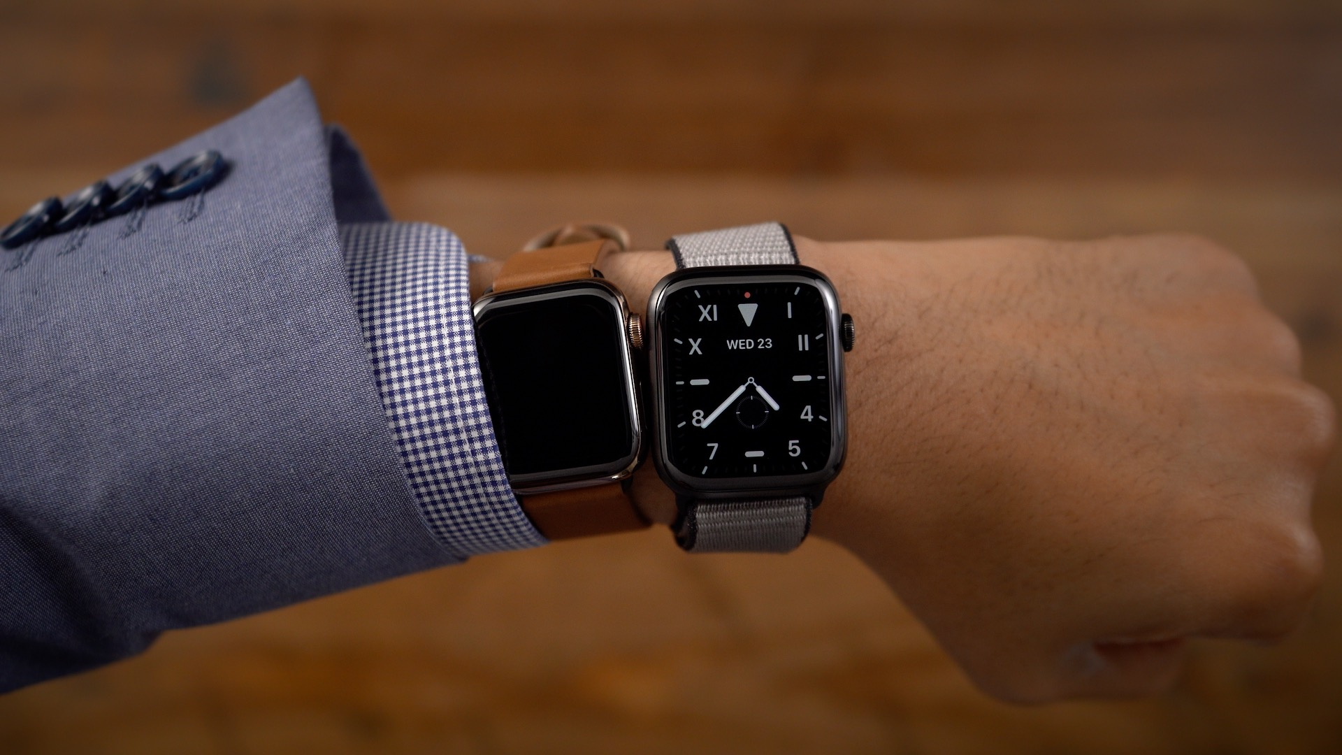 Apple Watch Series 4 inactive state vs Series 5 inactive state
