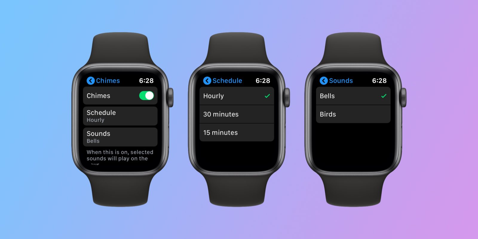 How to add hourly Taptic Chime alerts to Apple Watch
