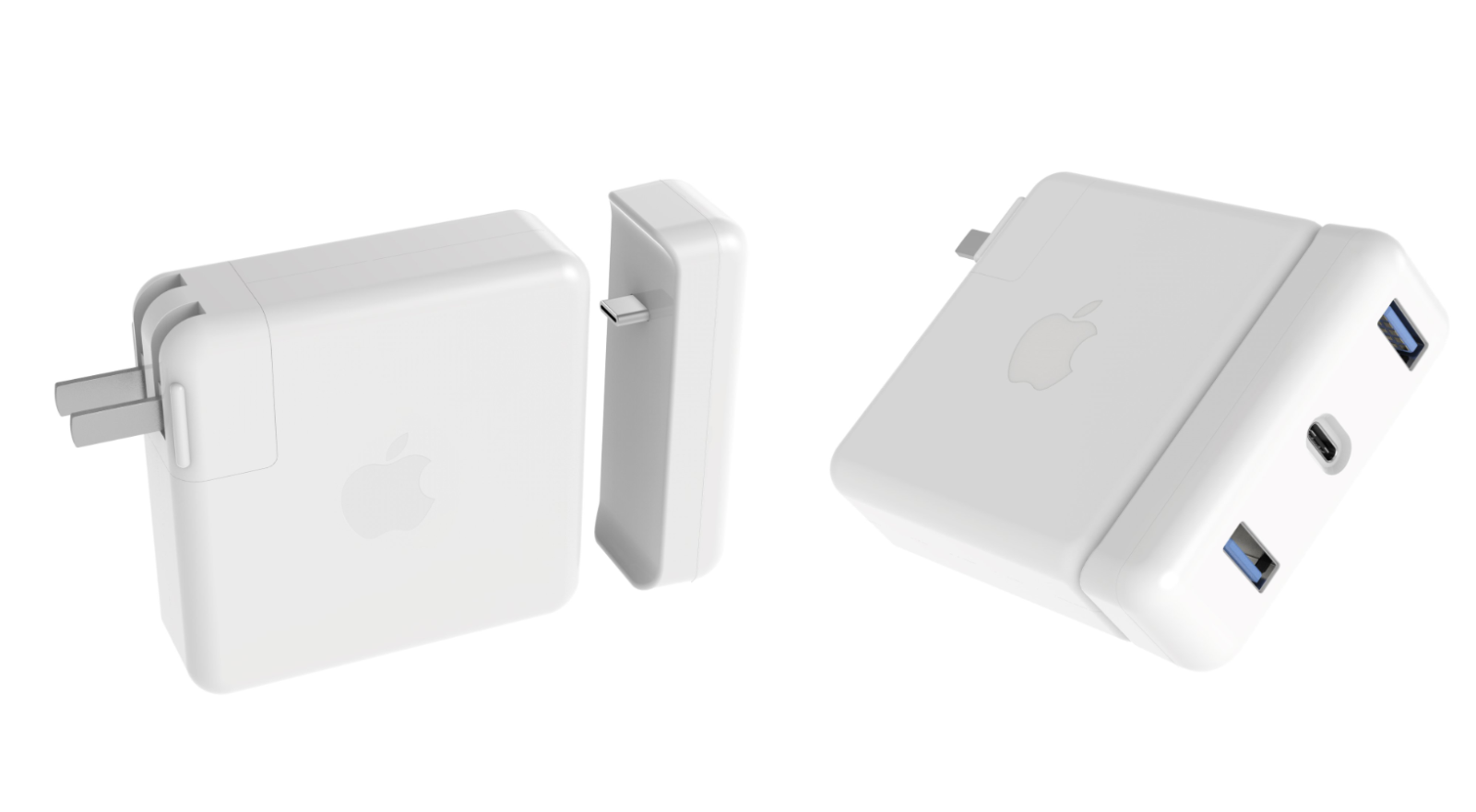 Hypers New Usb C Hubs Attach Directly To Macbook Pros Power Adapter