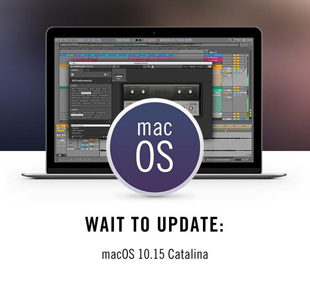 Logic Pro on Catalina update warning