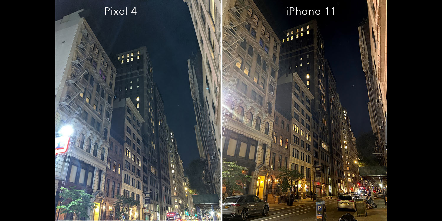 Night mode versus Night Sight: MacWorld test says iPhone 11 beats Pixel 4