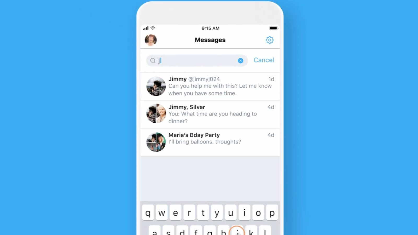 Twitter starts rolling out Direct Message search to all iOS users