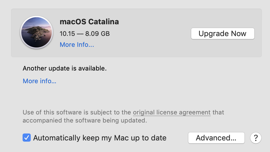 macOS Catalina available