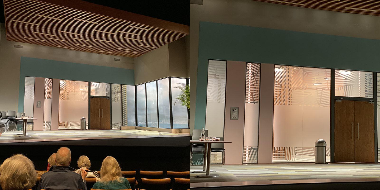 Theatre 1x vs 2x lens – very similar quality