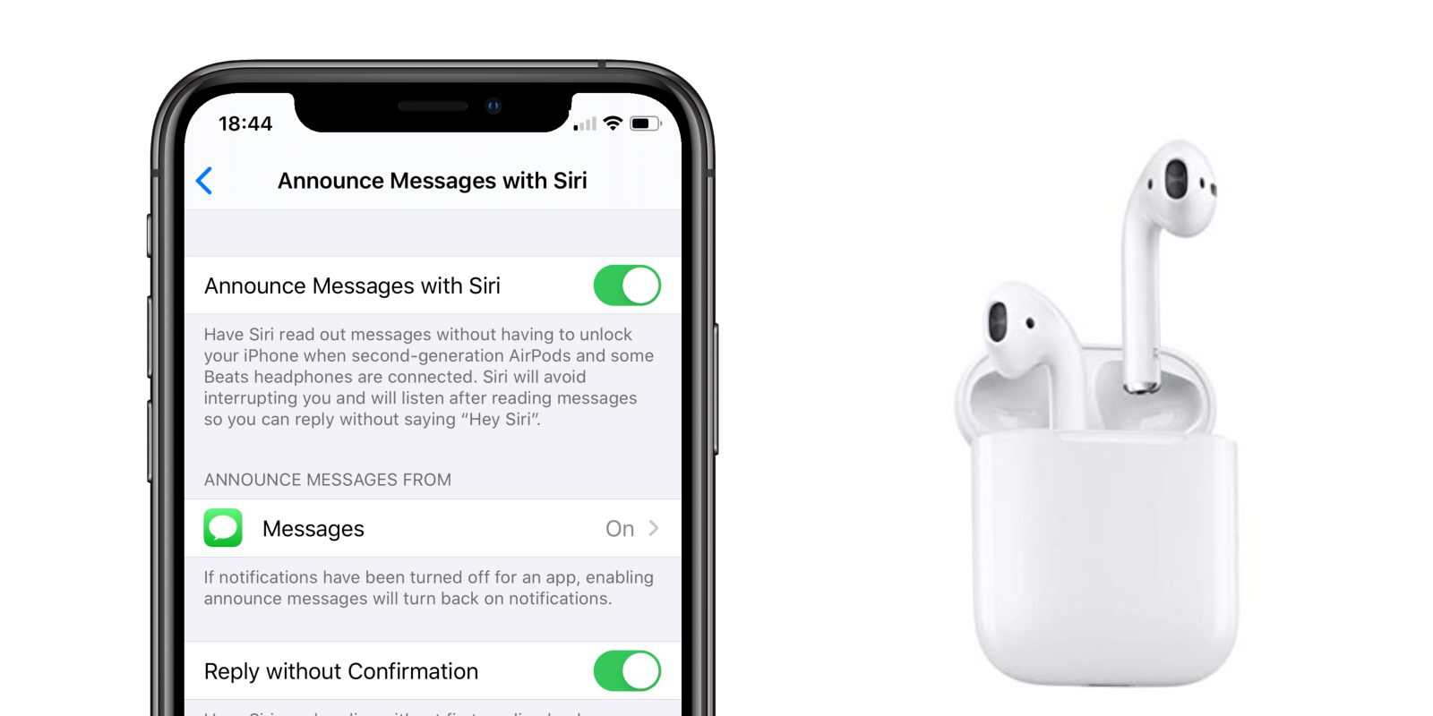 'Announce Messages with Siri' feature returns for AirPods owners in iOS 13.2