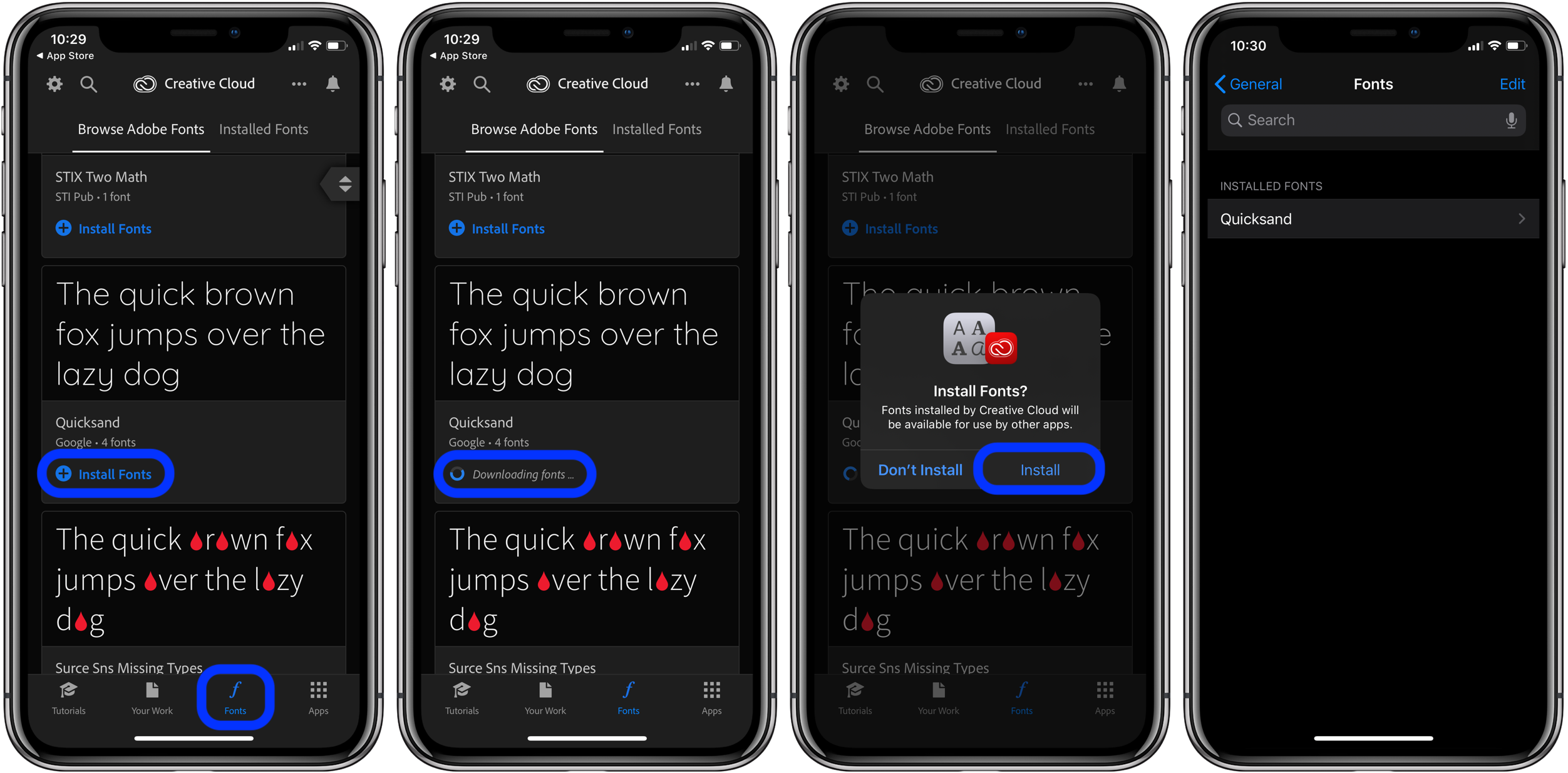 ios 13  how to use custom fonts on iphone and ipad