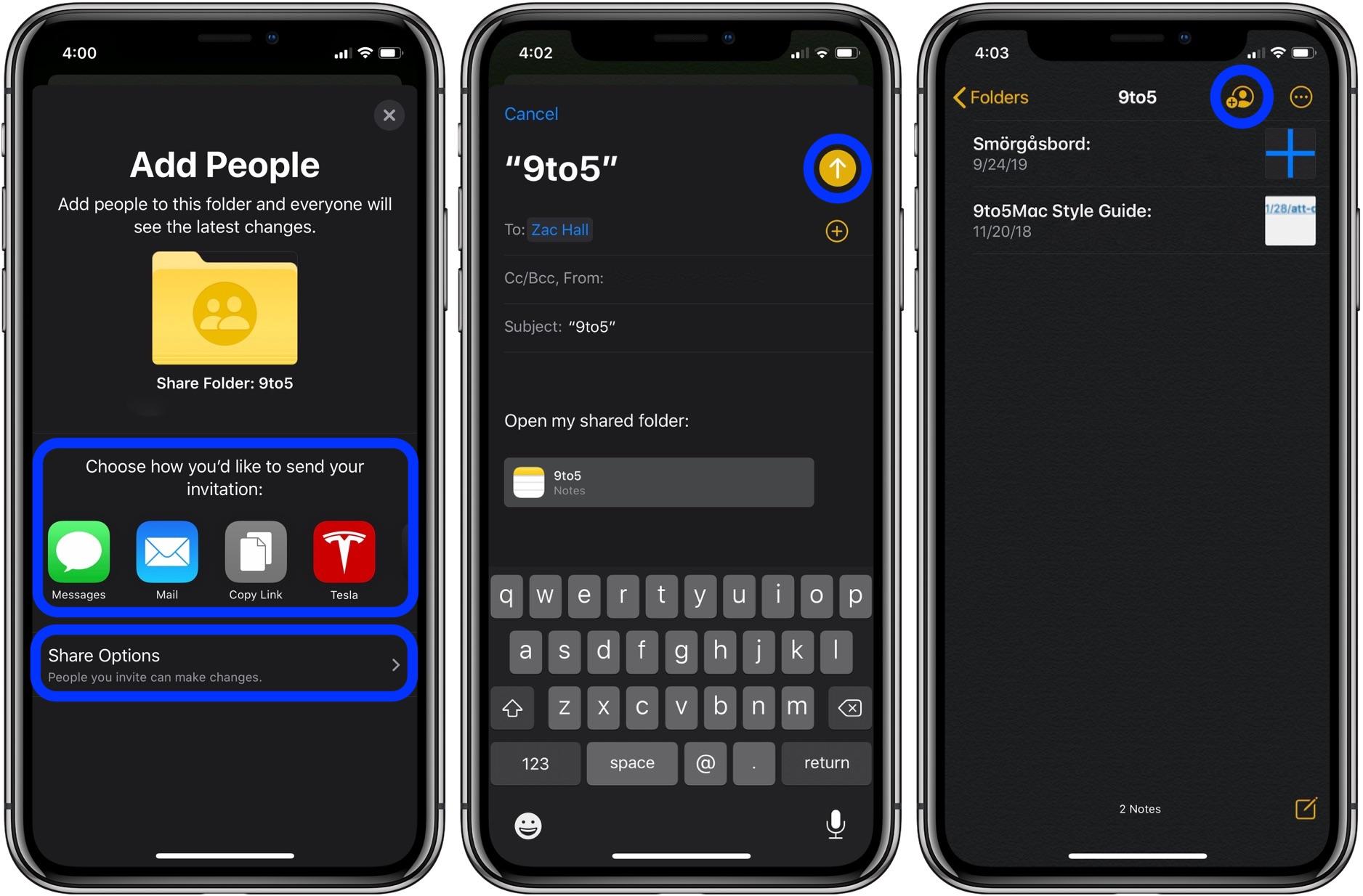 How to share Notes app folders iPhone iPad Mac walkthrough 2