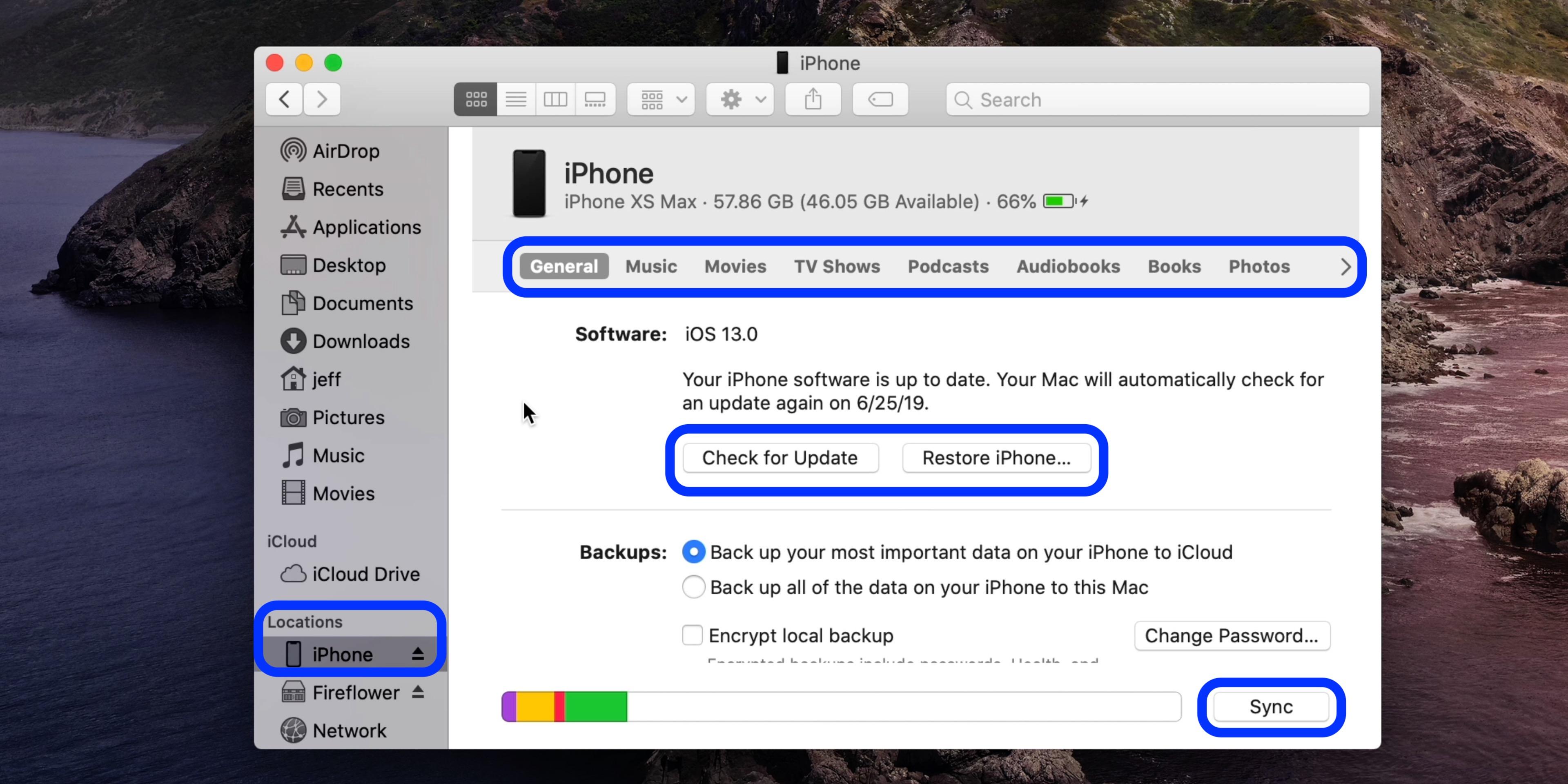 没有 iTunes 的情况下,如何用「访达」将 iPhone 与 Mac 同步?